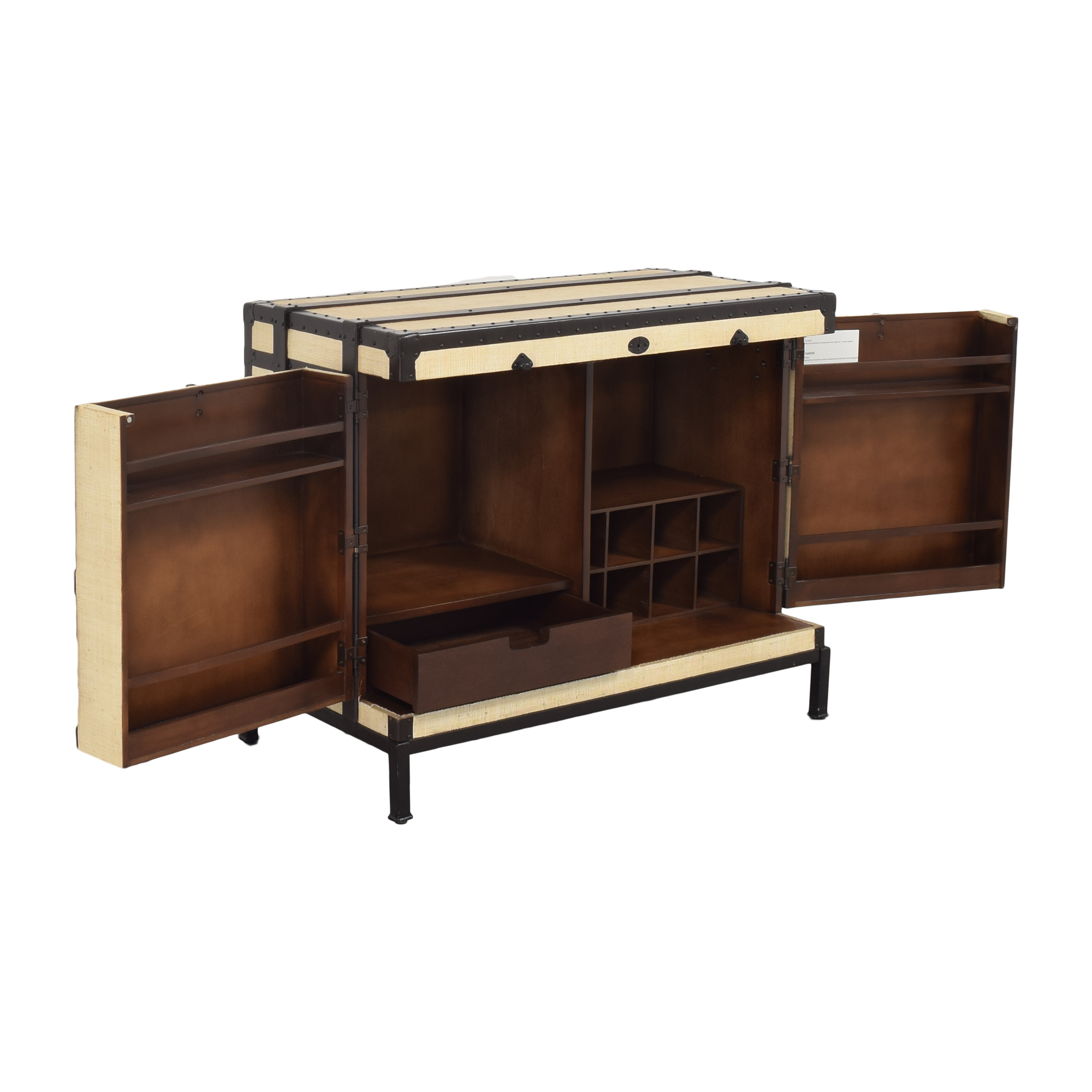 Pottery Barn Pottery Barn Ludlow Trunk Bar Cabinet for sale
