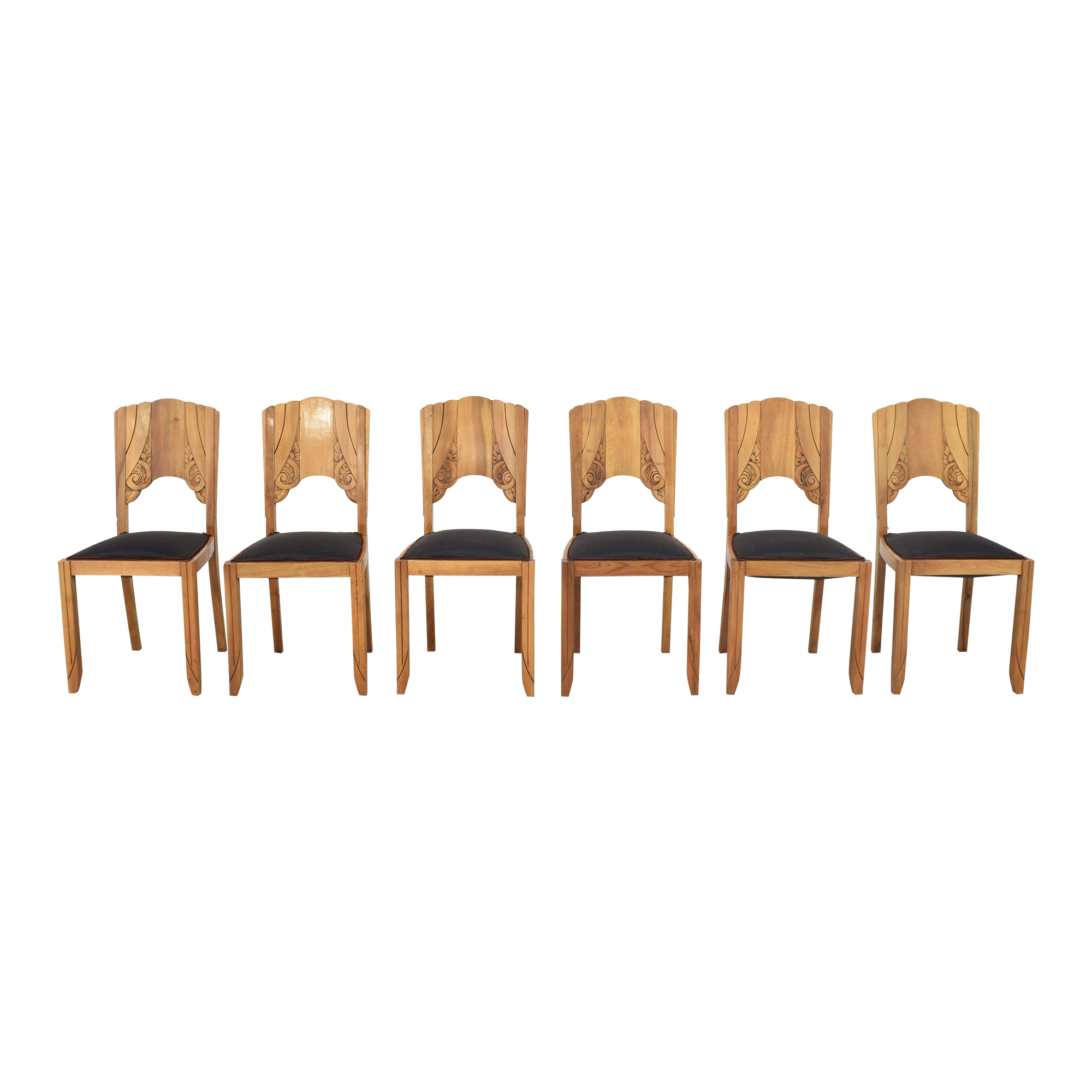Art Nouveau-Style Dining Side Chairs Dining Chairs