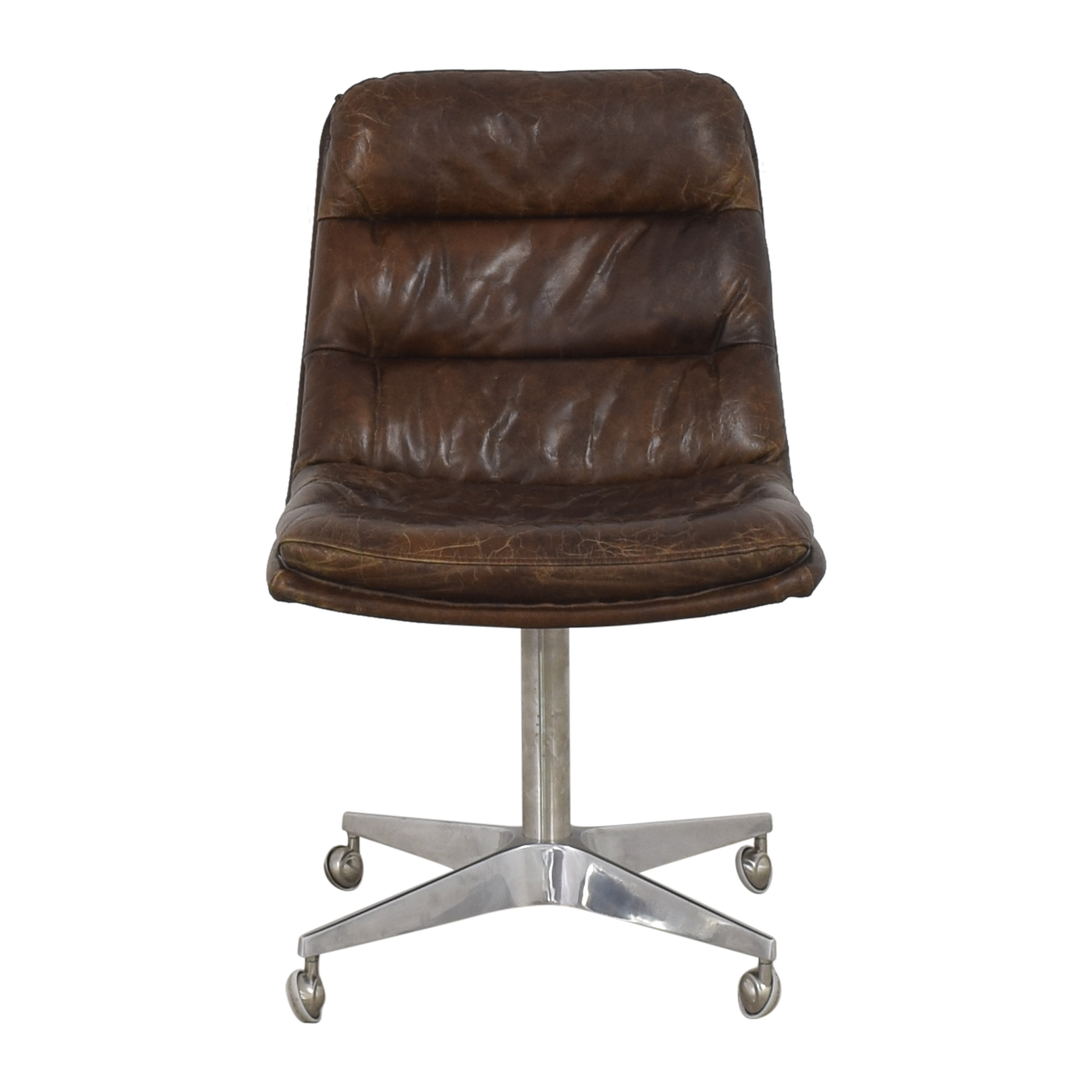 Restoration Hardware Restoration Hardware Griffith Desk Chair  dark brown and silver