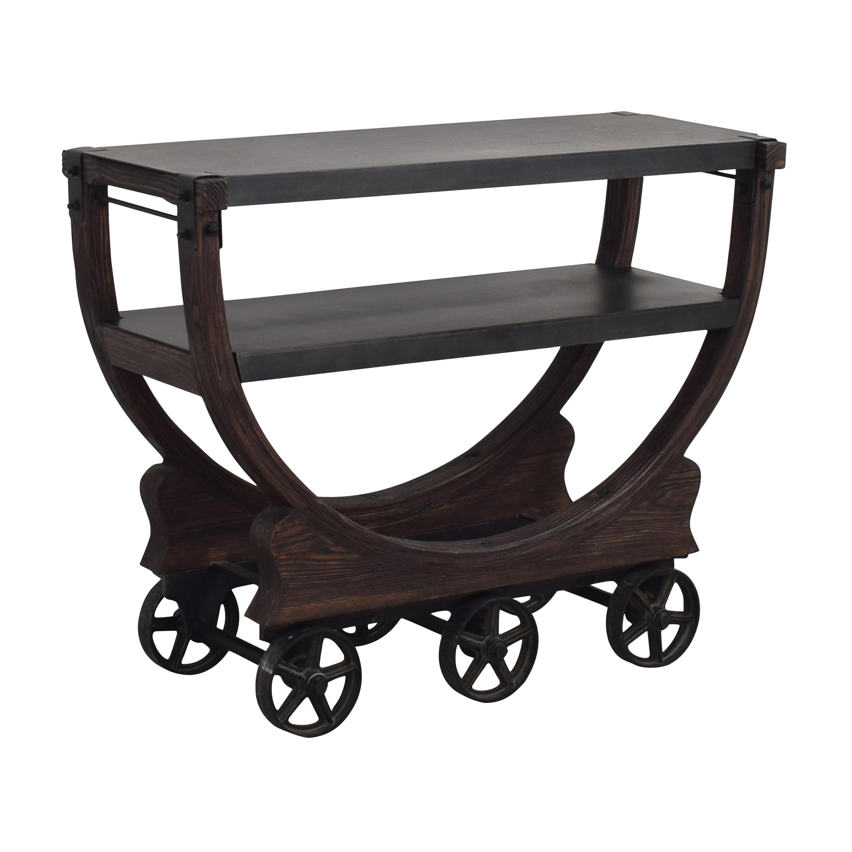 Restoration Hardware Vintage Wallpaper Factory Bar Cart / Decorative Accents
