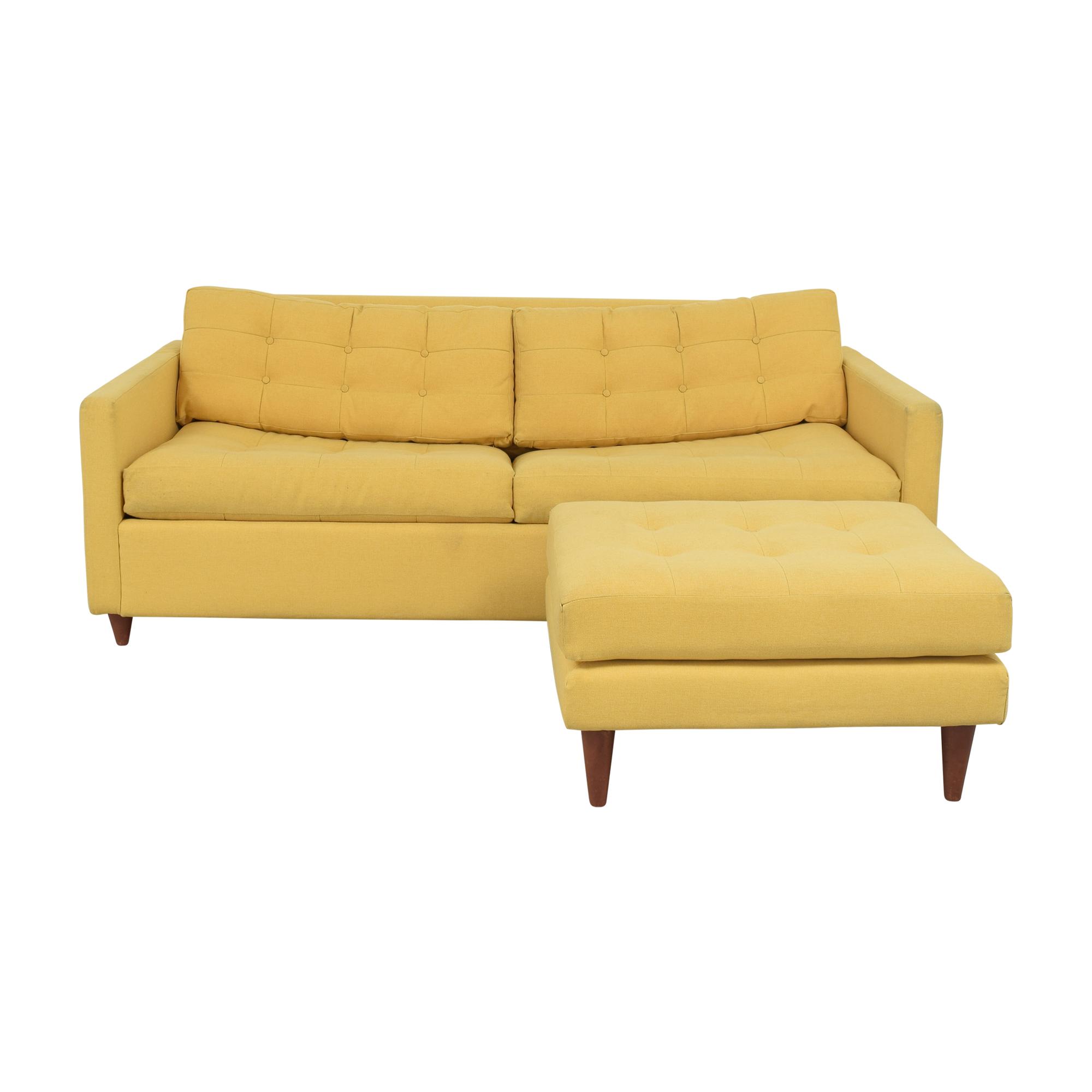 shop Joy Bird Eliot Sleeper Sofa with Ottoman Joybird Sofas