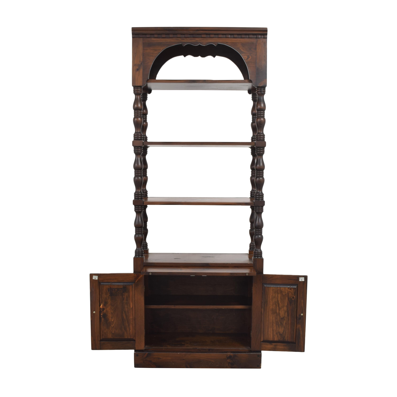 Bennington Pine Bookcase with Cabinet sale