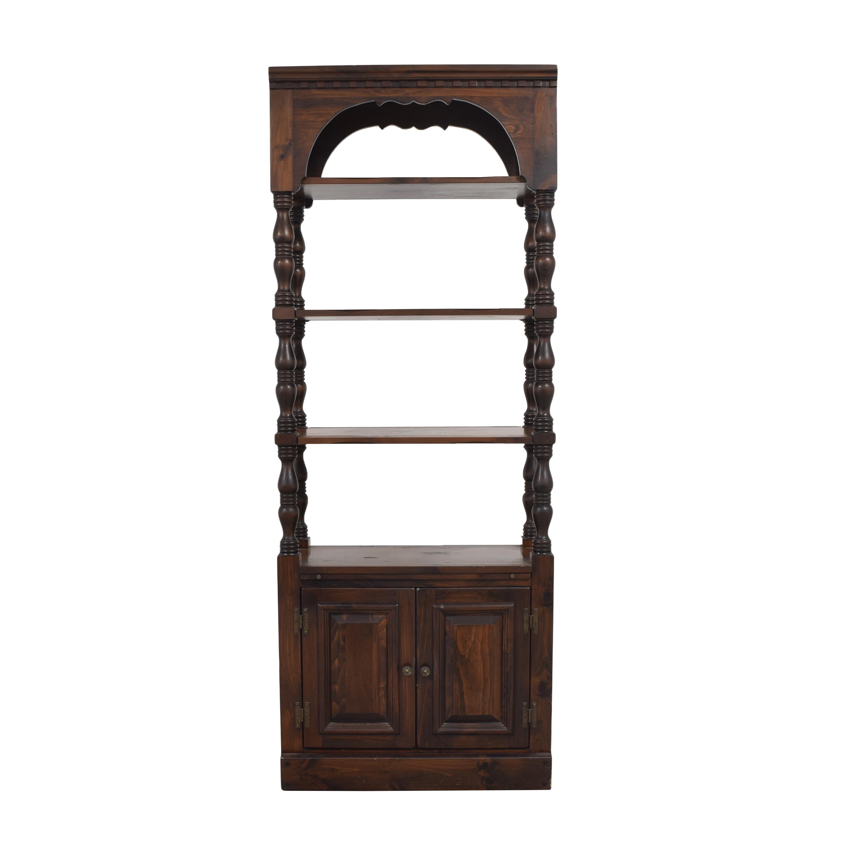Bennington Pine Bennington Pine Bookcase with Cabinet discount