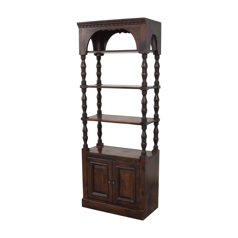 buy Bennington Pine Bookcase with Cabinet Bennington Pine