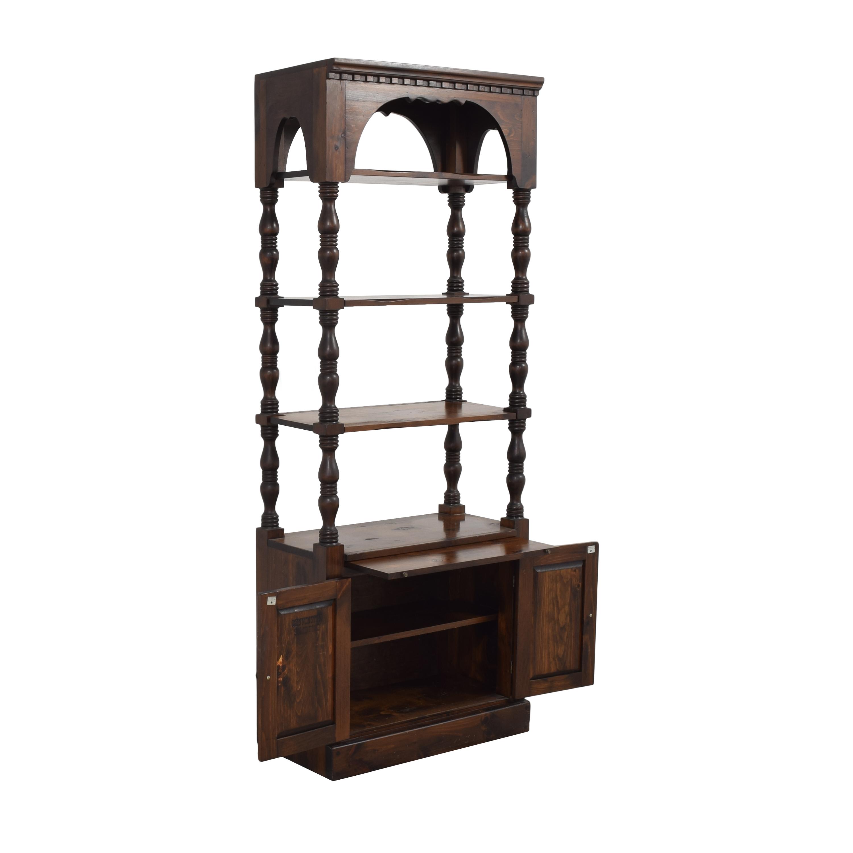 Bennington Pine Bennington Pine Bookcase with Cabinet used