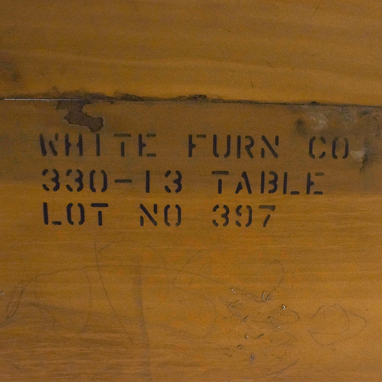 White Fine Furniture White Fine Furniture Dining Table dimensions