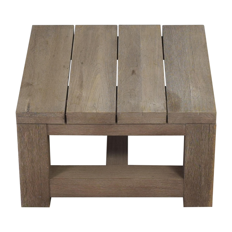 Restoration Hardware Reclaimed Russian Oak Parsons Side Table / Tables