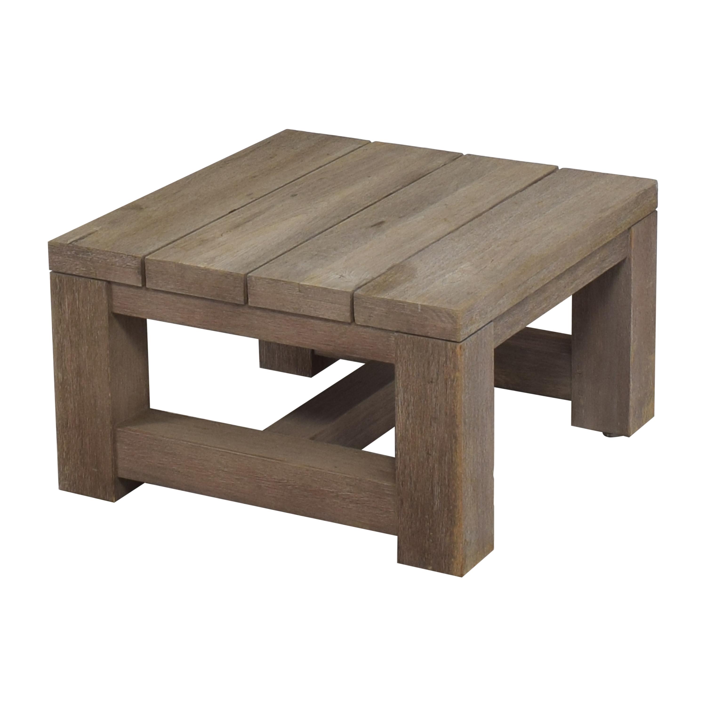 Restoration Hardware Reclaimed Russian Oak Parsons Side Table / Coffee Tables