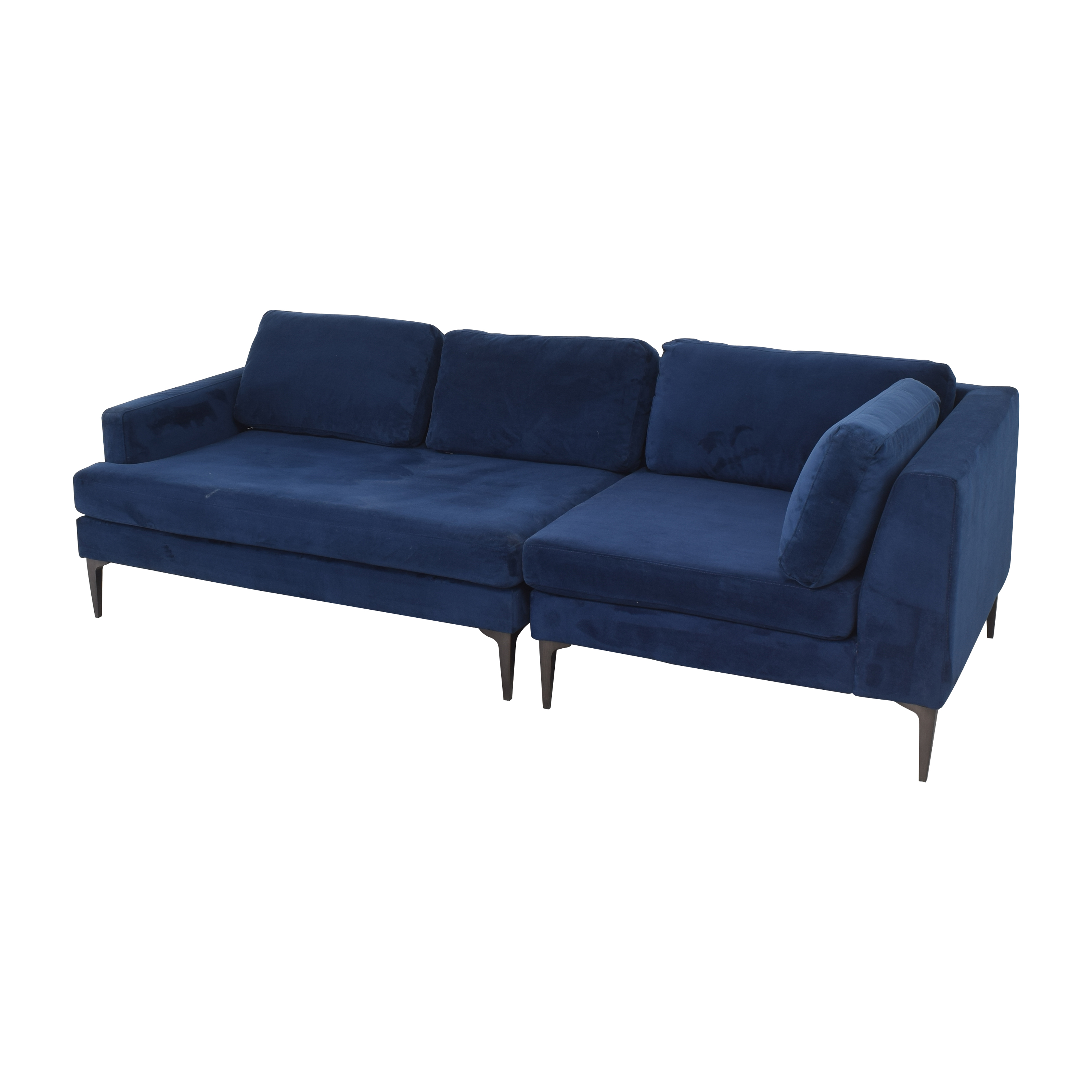 West Elm West Elm Andes 3-Piece Chaise Sectional ct