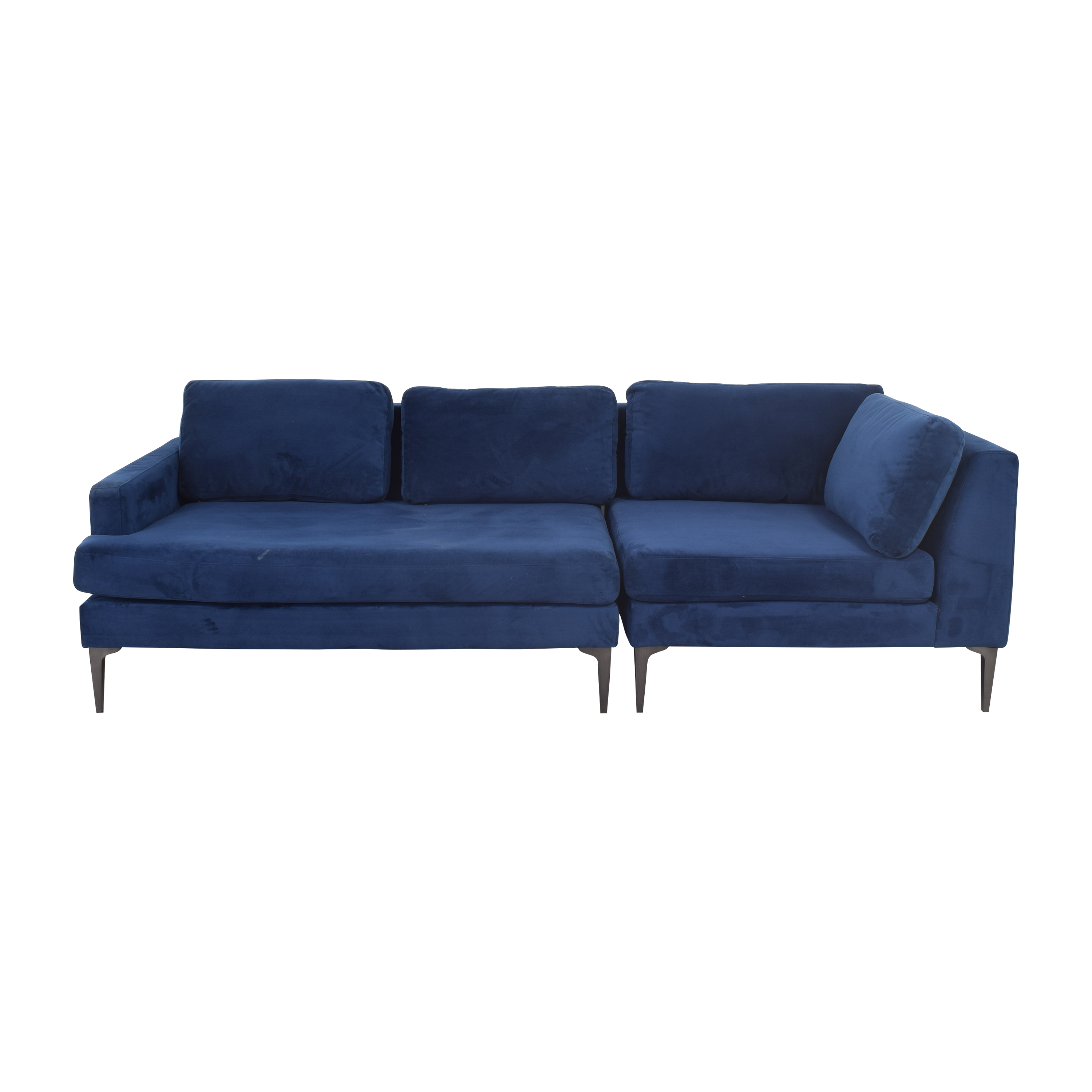 West Elm West Elm Andes 3-Piece Chaise Sectional for sale