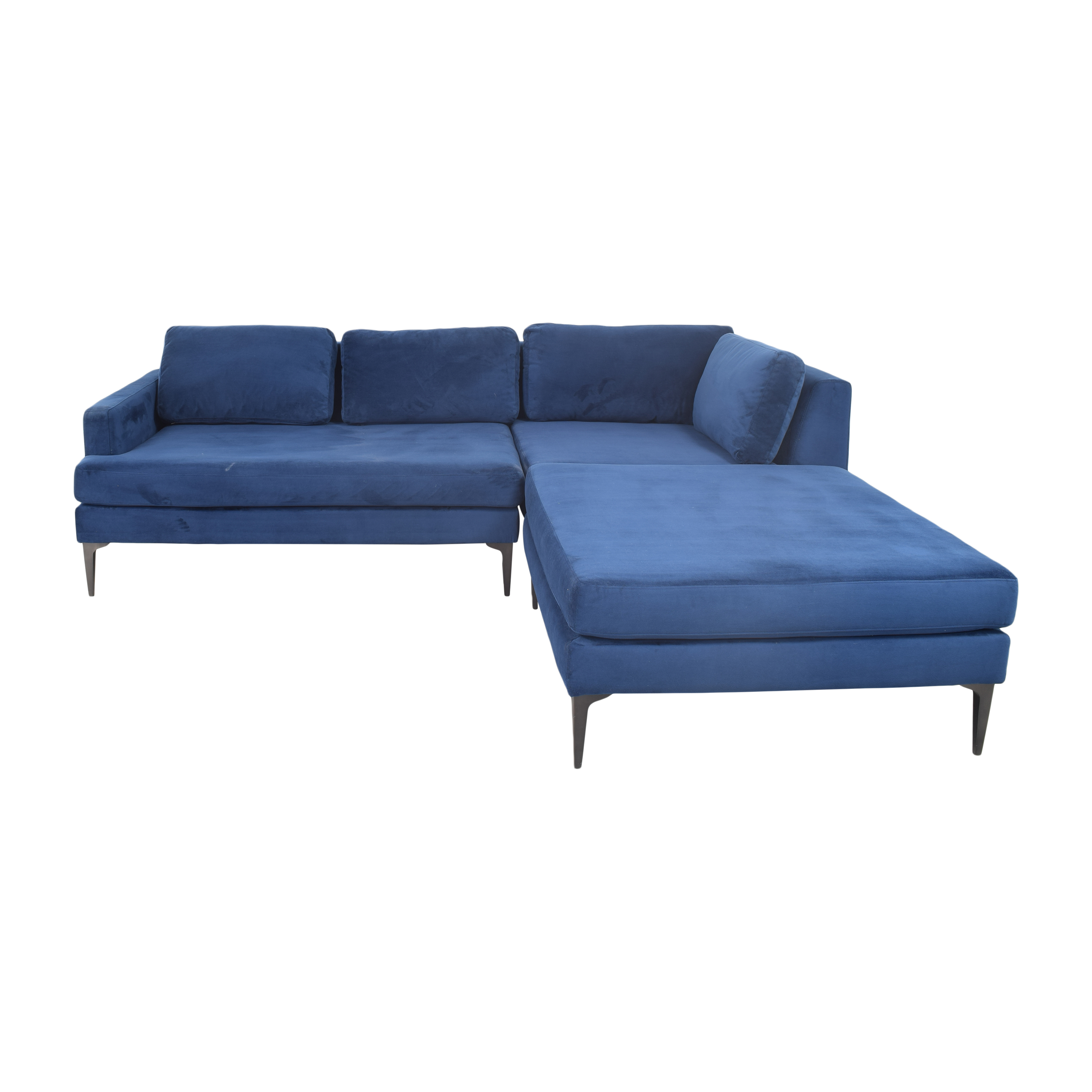 West Elm West Elm Andes 3-Piece Chaise Sectional Sofas