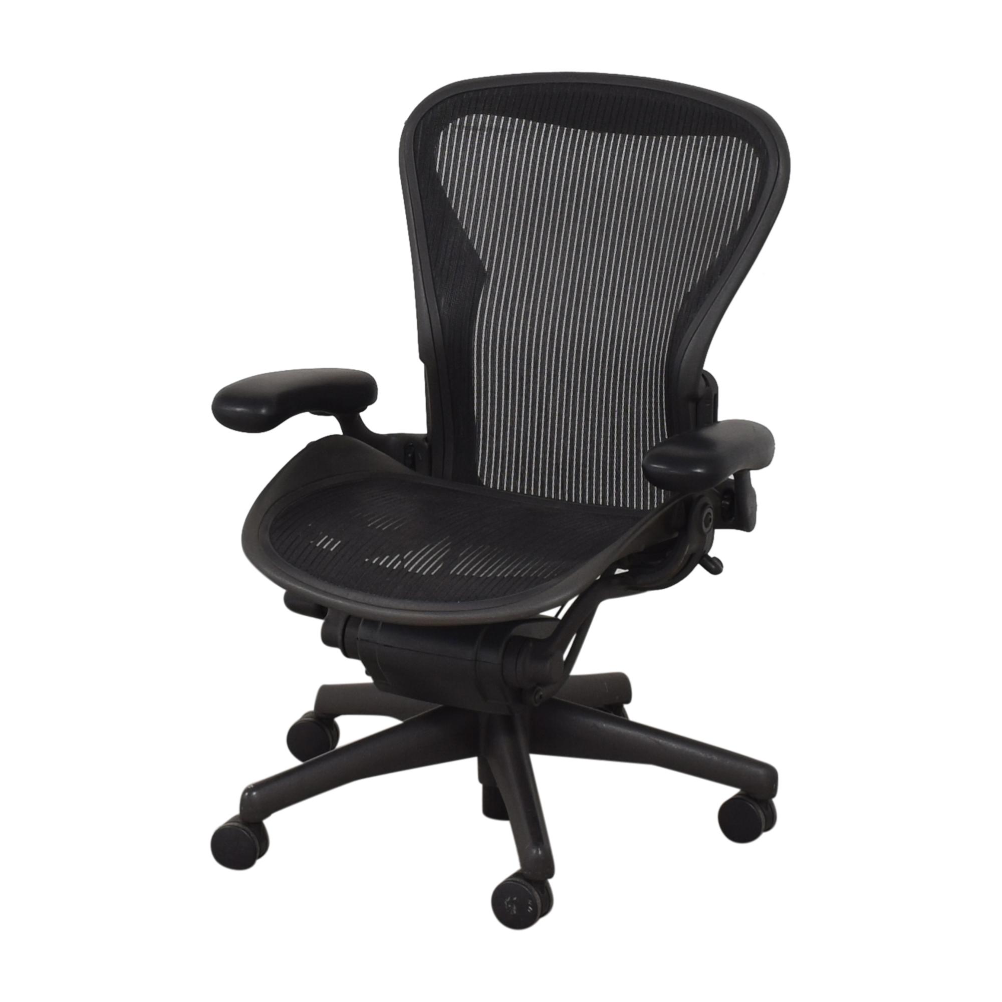 shop Herman Miller Aeron Size B Swivel Desk Chair Herman Miller Home Office Chairs