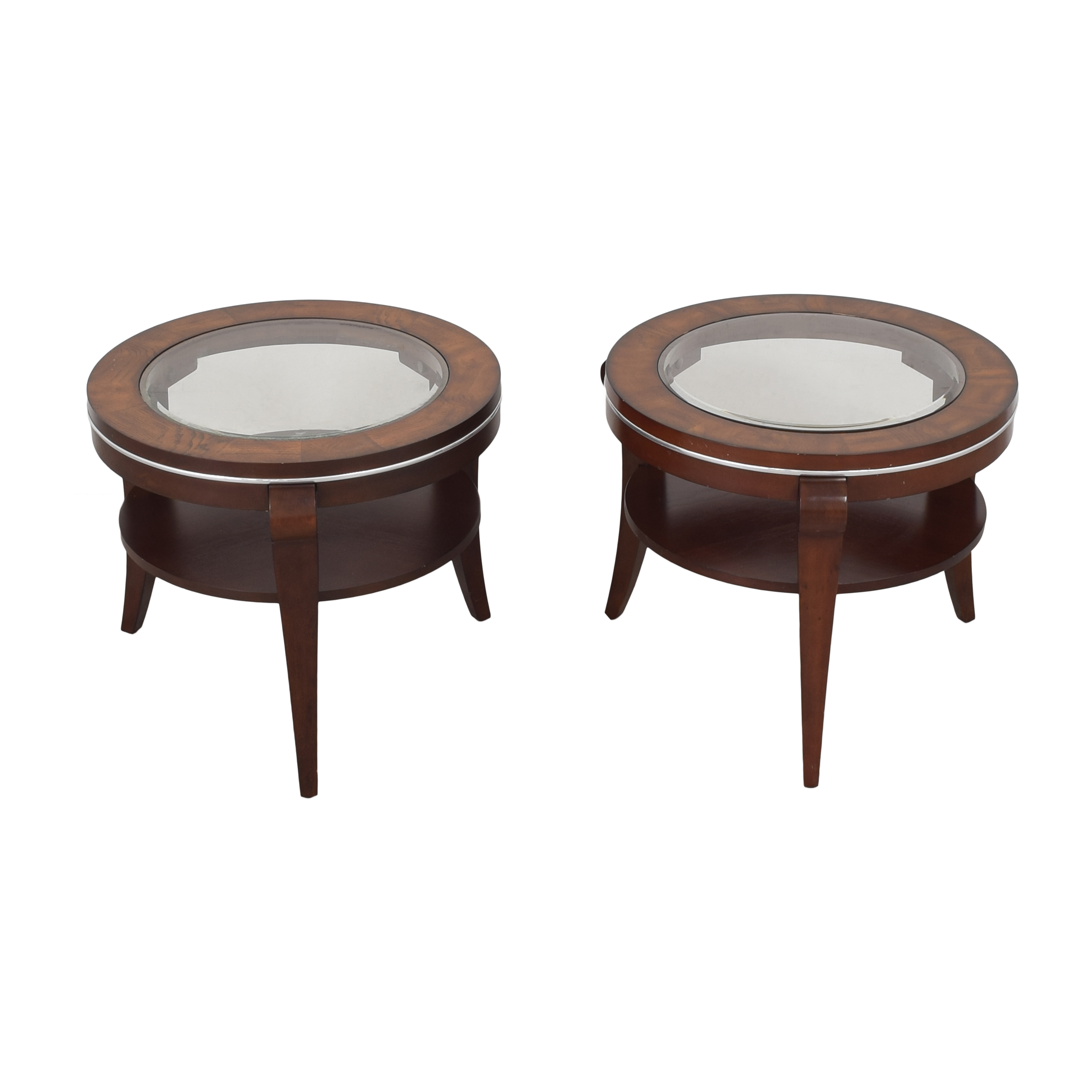 Raymour & Flanigan Round End Tables / Tables