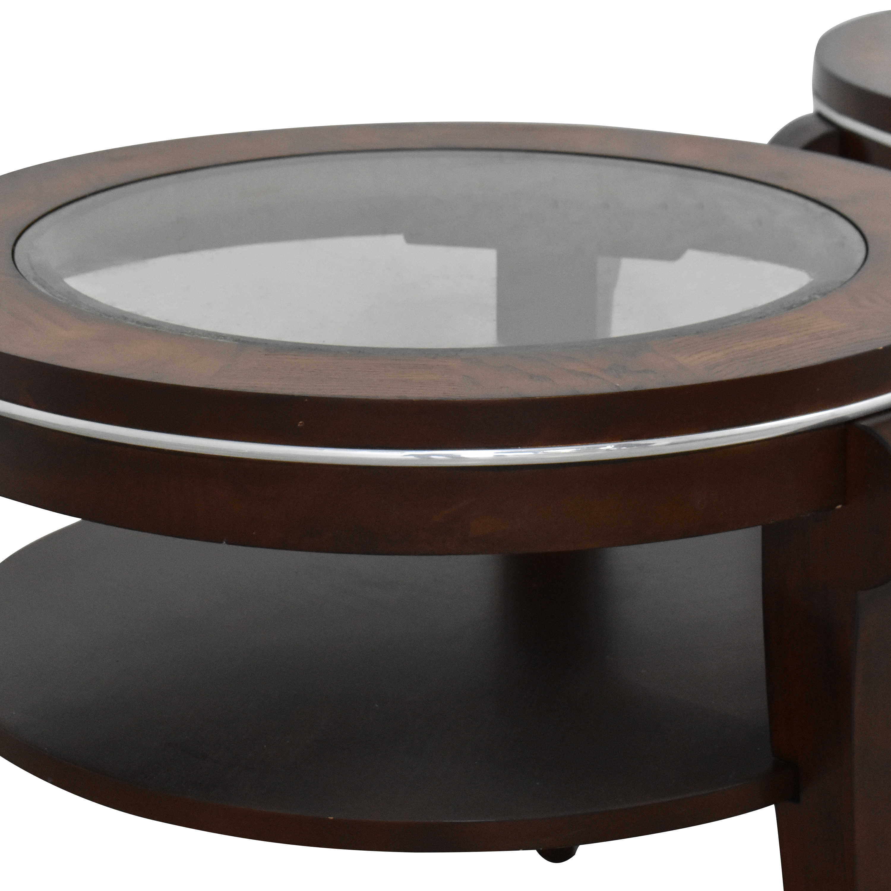 Raymour & Flanigan Raymour & Flanigan Round End Tables on sale