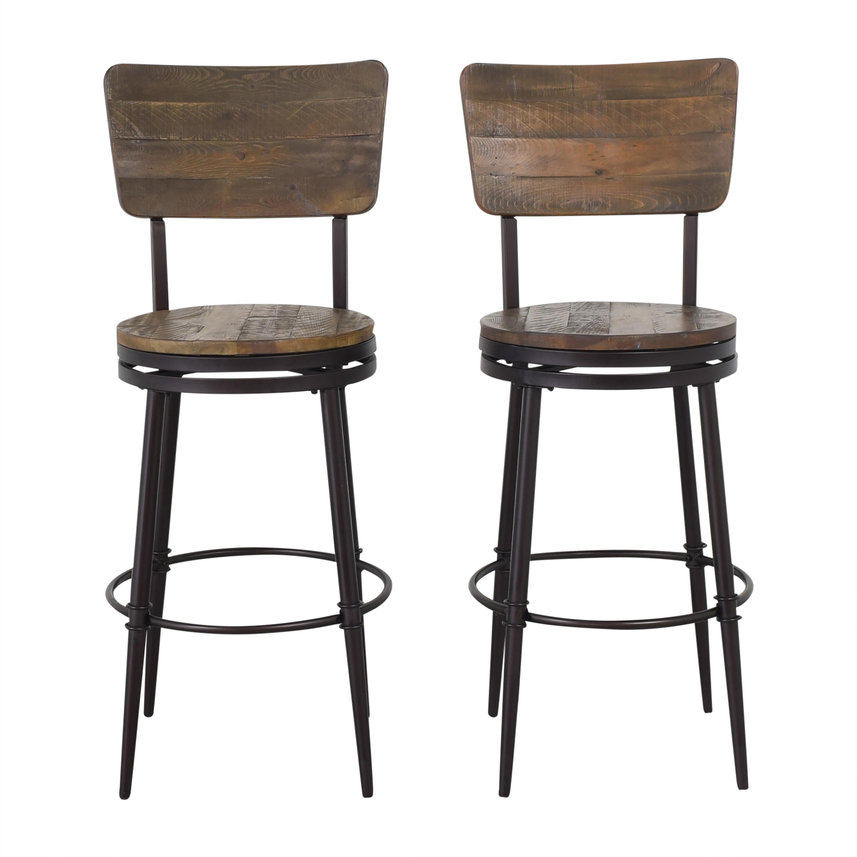 Raymour & Flanigan Isaac Swivel Bar Stools sale