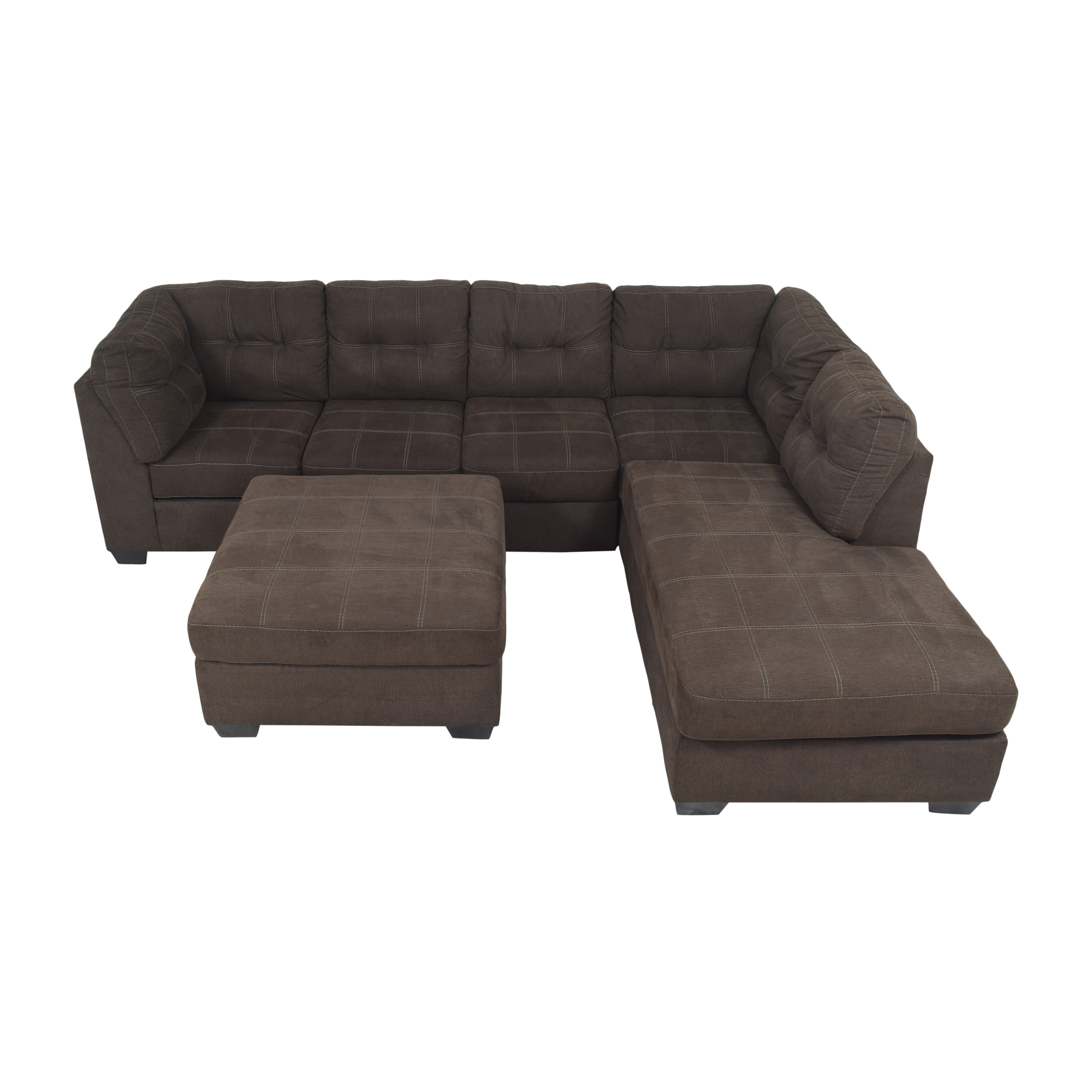 Ashley Furniture Pitkin Two-Piece Chaise Sectional with Ottoman sale