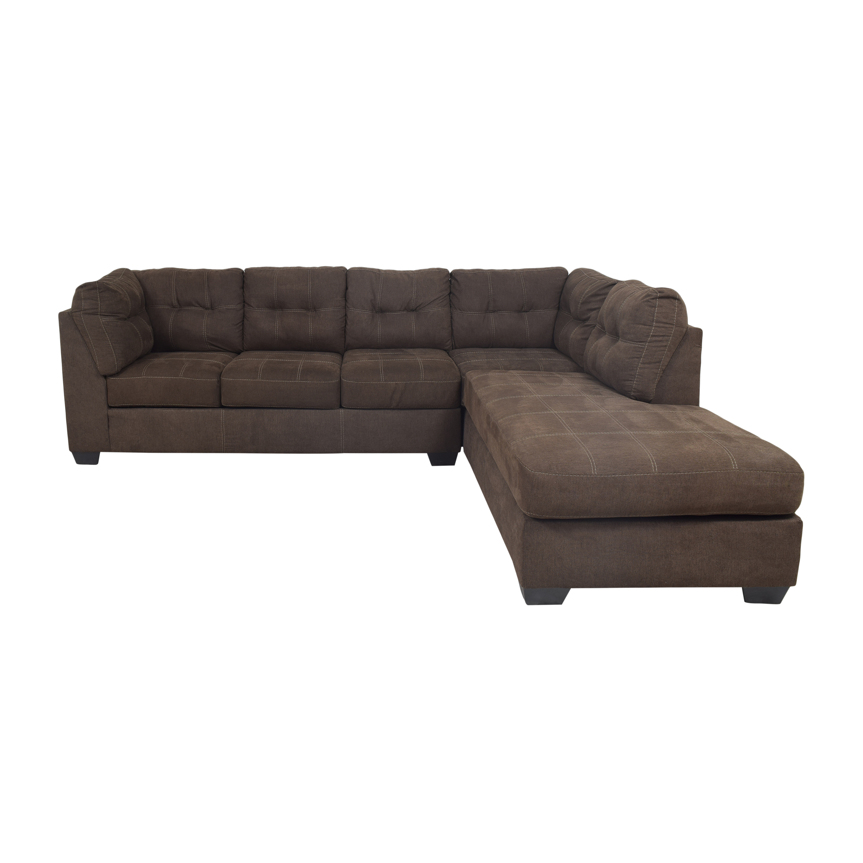 Ashley Furniture Ashley Furniture Pitkin Two-Piece Chaise Sectional with Ottoman nj