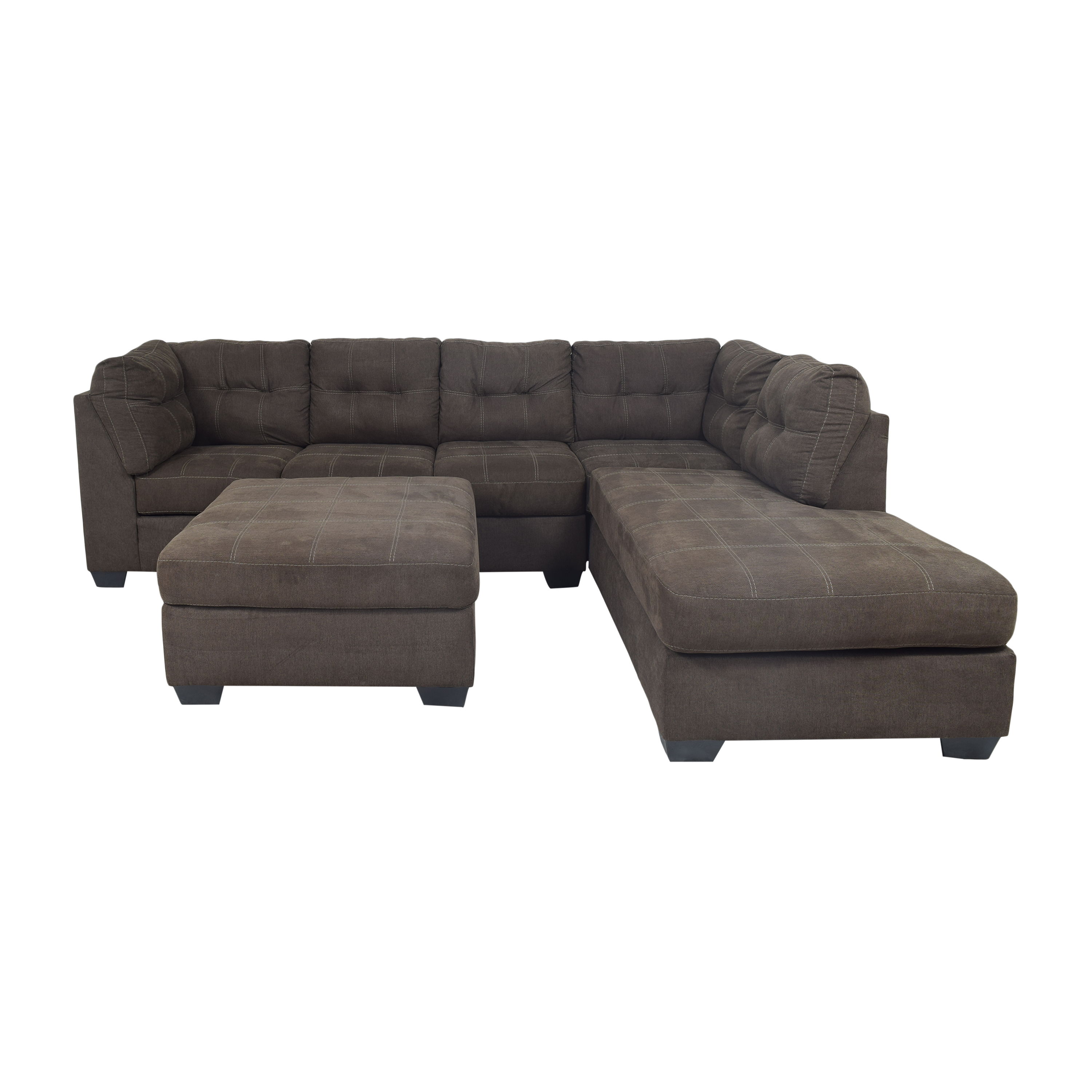 Ashley Furniture Ashley Furniture Pitkin Two-Piece Chaise Sectional with Ottoman second hand