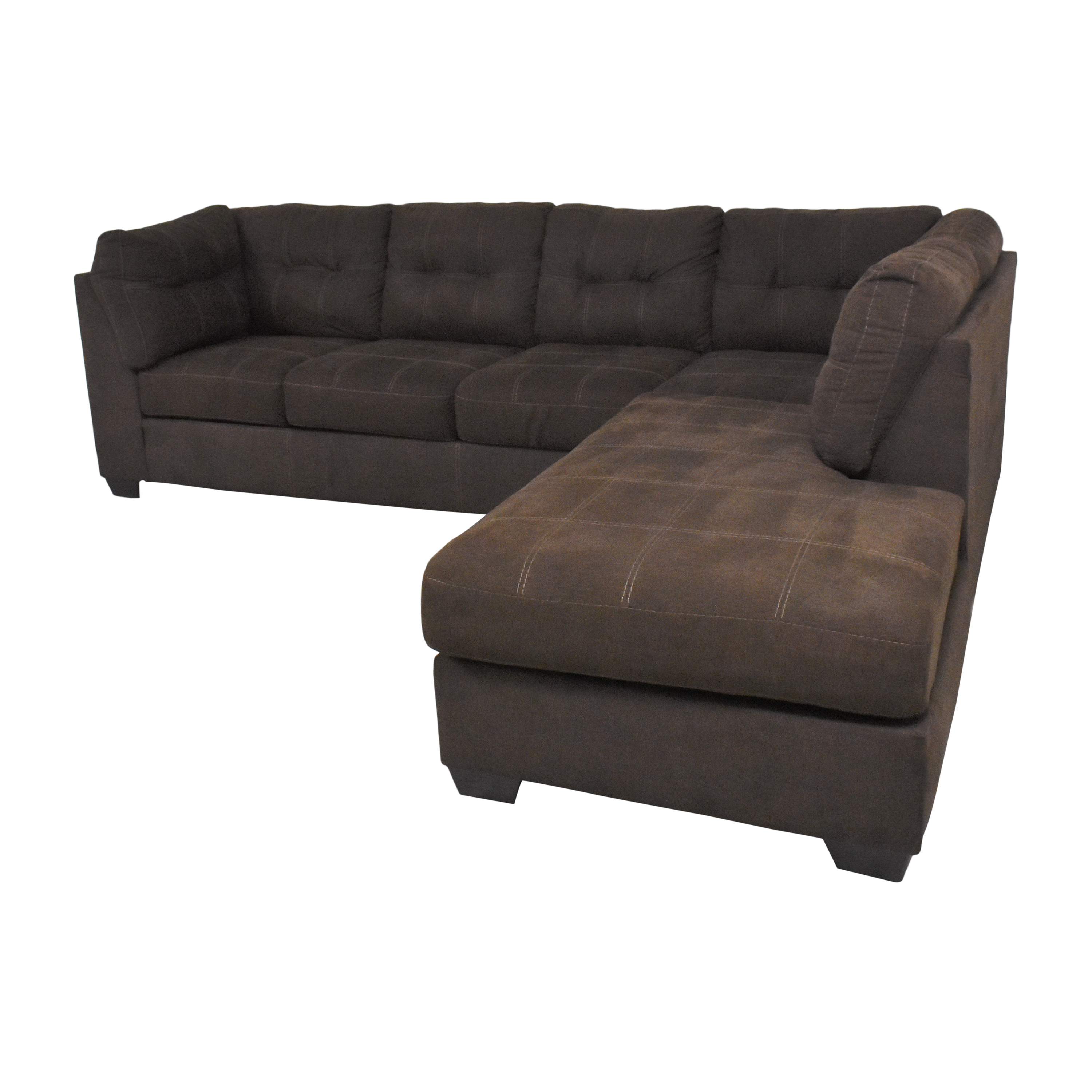 Ashley Furniture Ashley Furniture Pitkin Two-Piece Chaise Sectional with Ottoman nyc