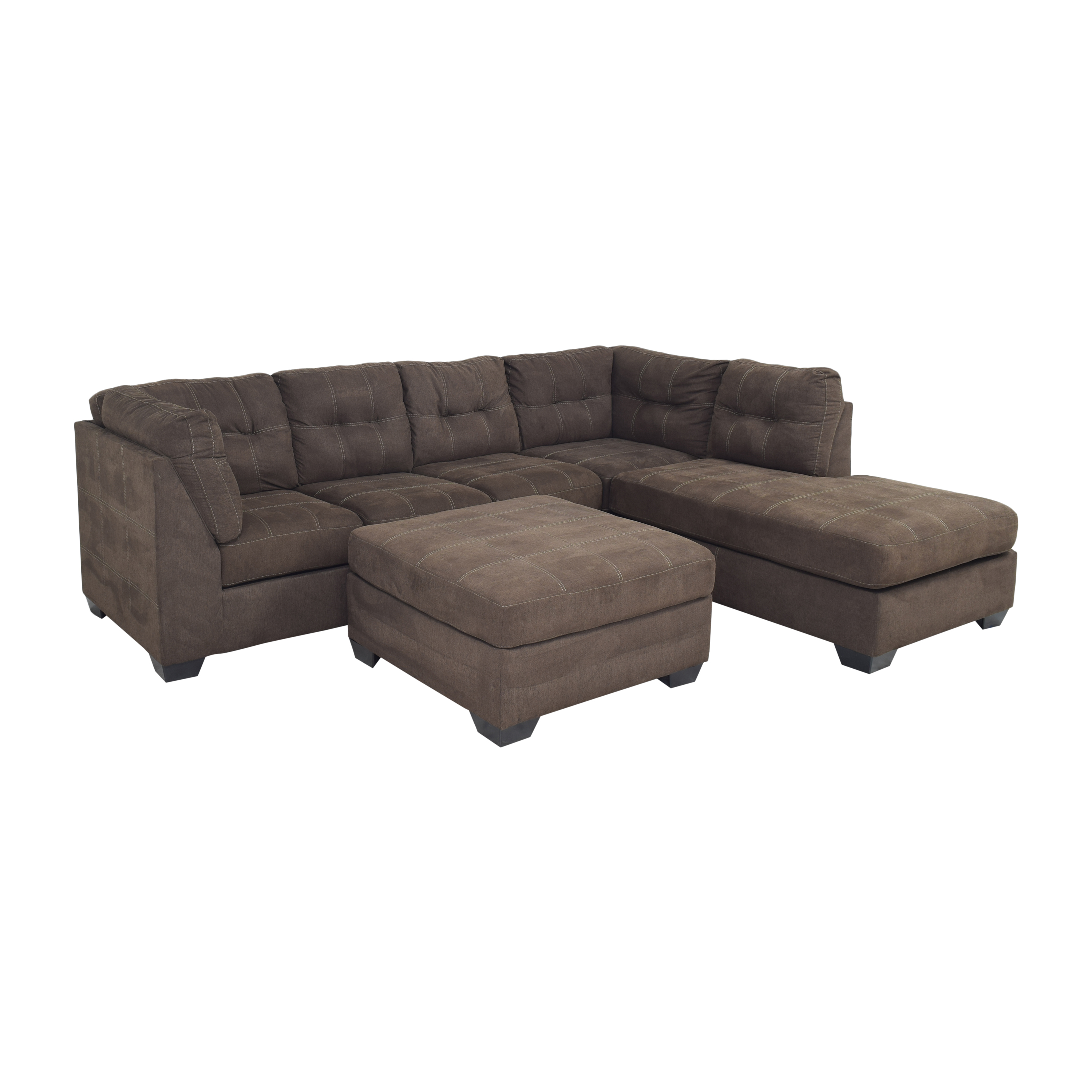 Ashley Furniture Ashley Furniture Pitkin Two-Piece Chaise Sectional with Ottoman