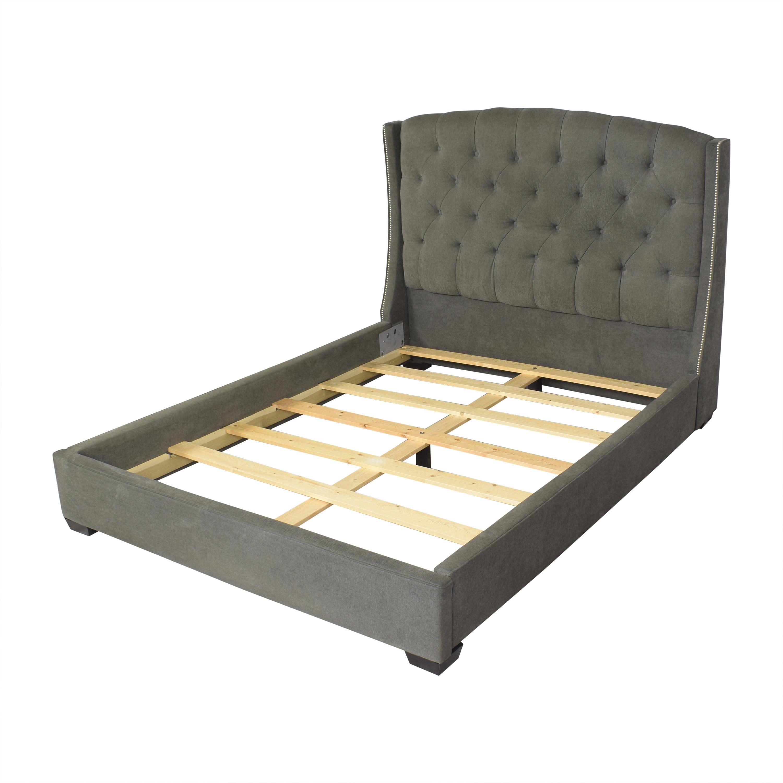 shop Macy's Lesley Upholstered Queen Bed Macy's Bed Frames