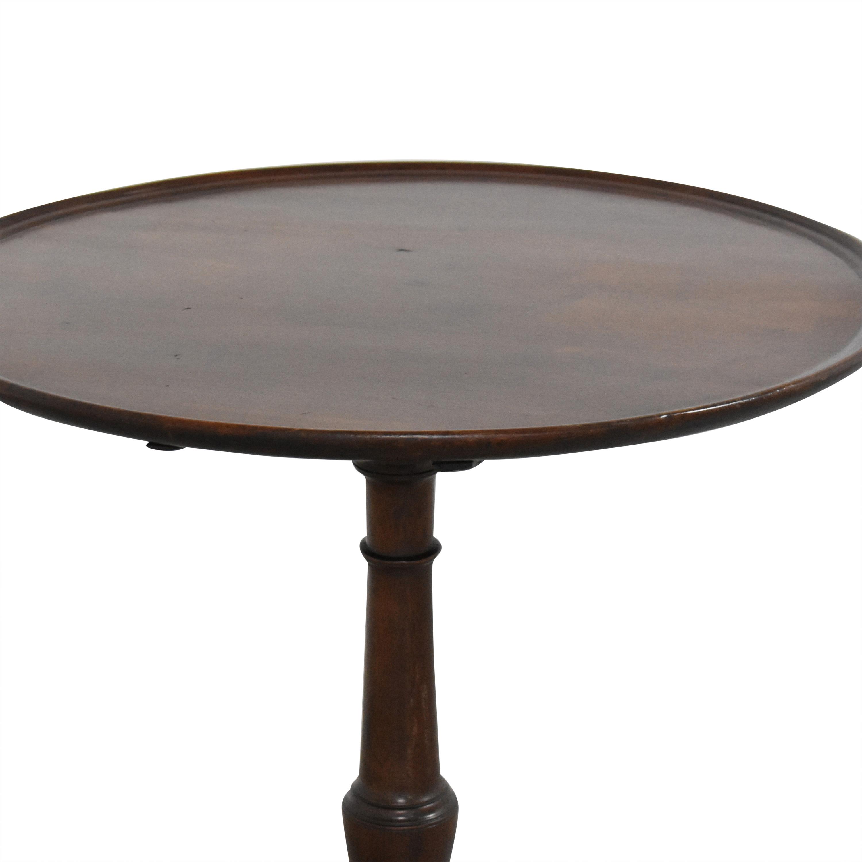 Antique Pedestal Side Table  coupon