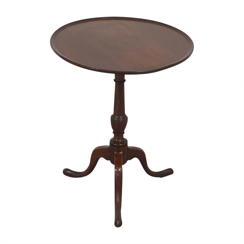 Antique Pedestal Side Table