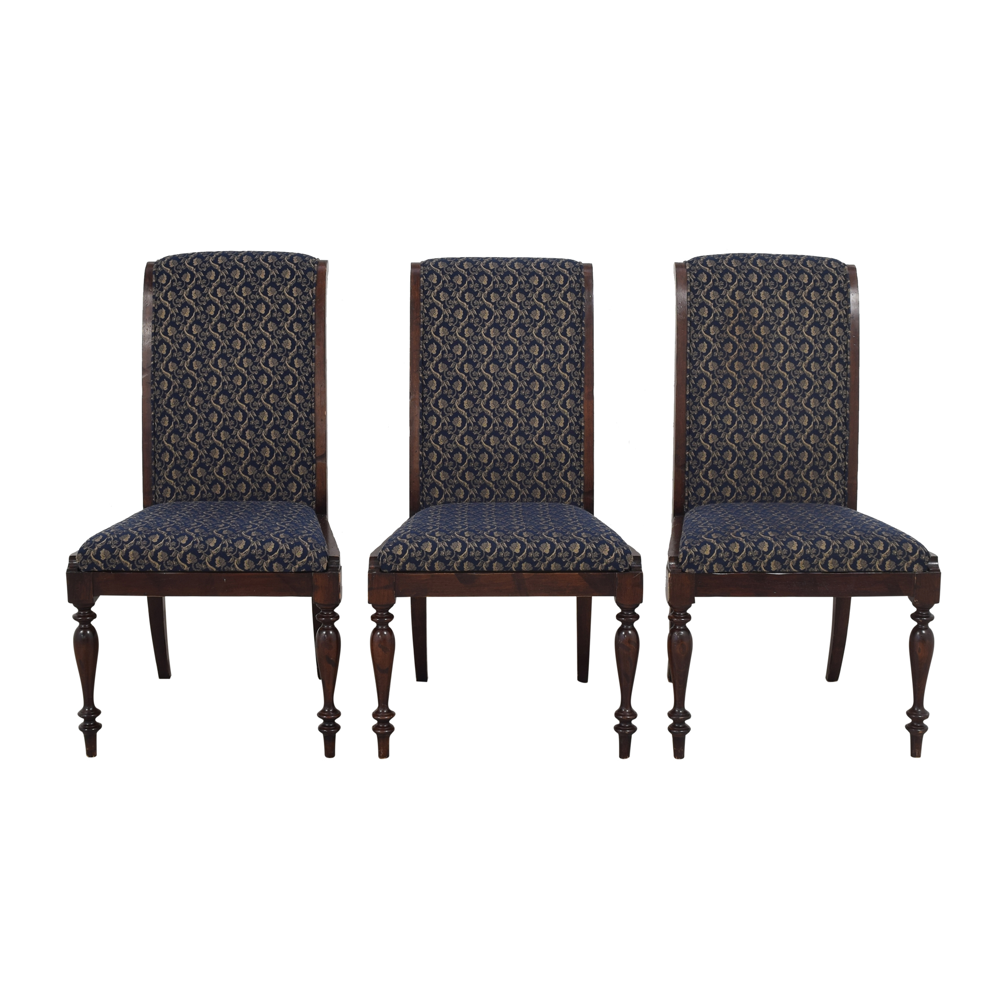 Sacchetto Fratelli Upholstered High Back Dining Chairs Sacchetto Fratelli