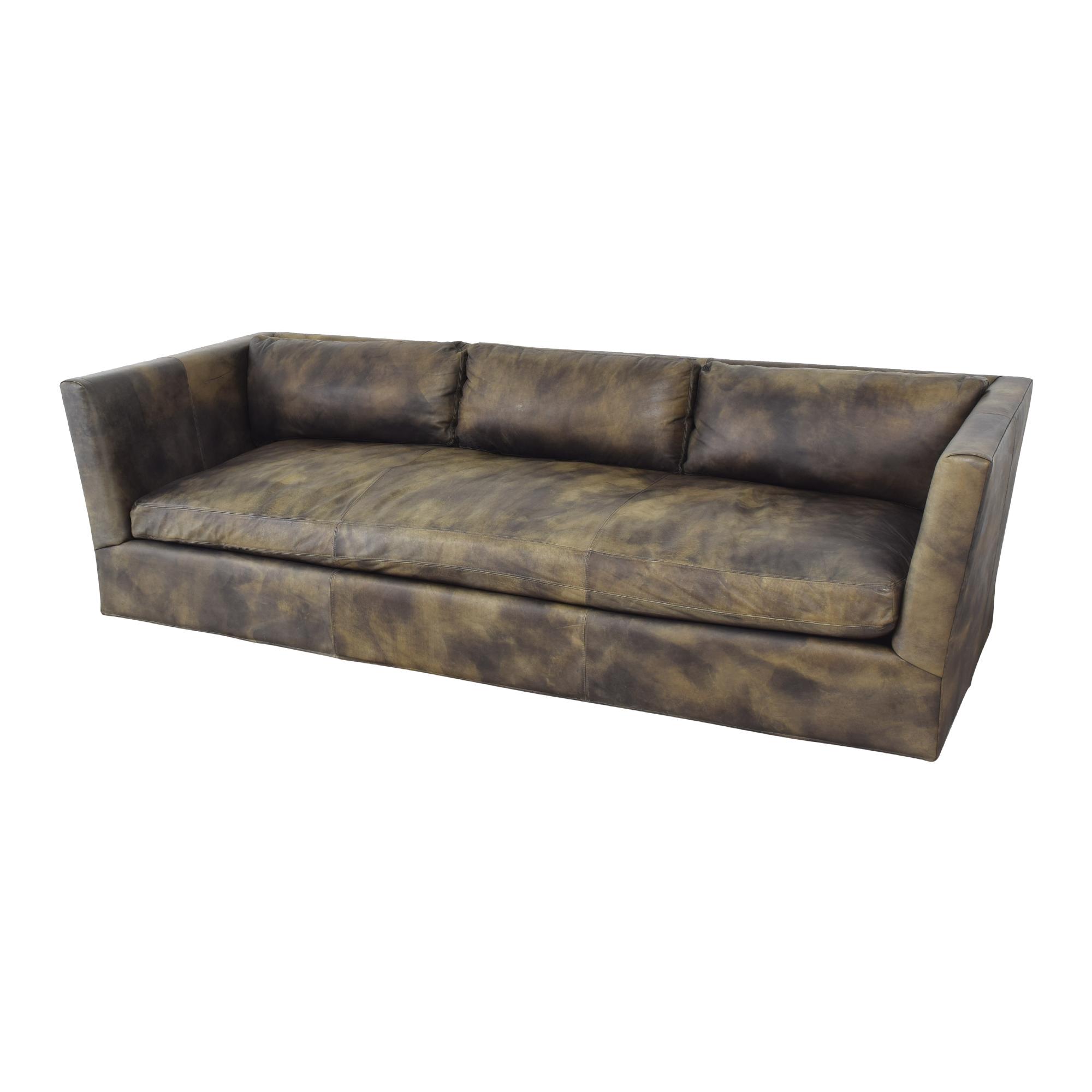 Restoration Hardware Restoration Hardware Custom Flared Arm Sofa on sale