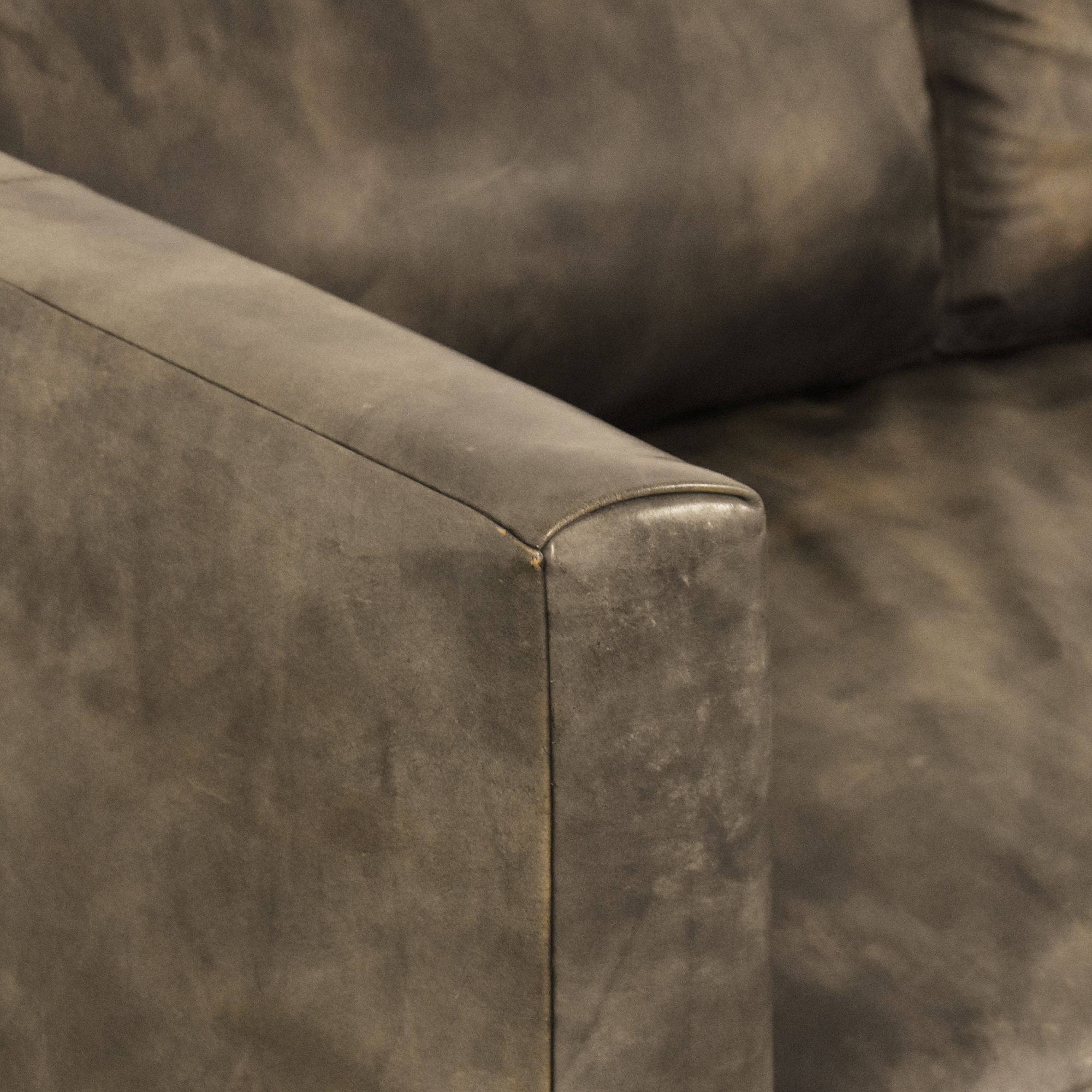 Restoration Hardware Custom Flared Arm Sofa sale
