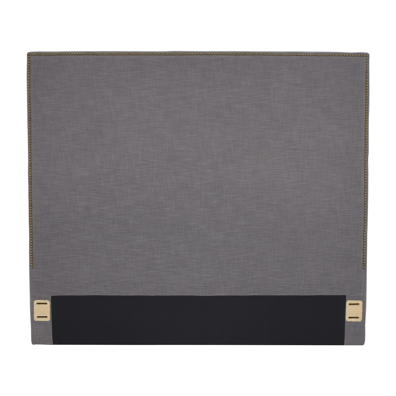 West Elm Queen Nailhead Upholstered Tall Headboard / Headboards