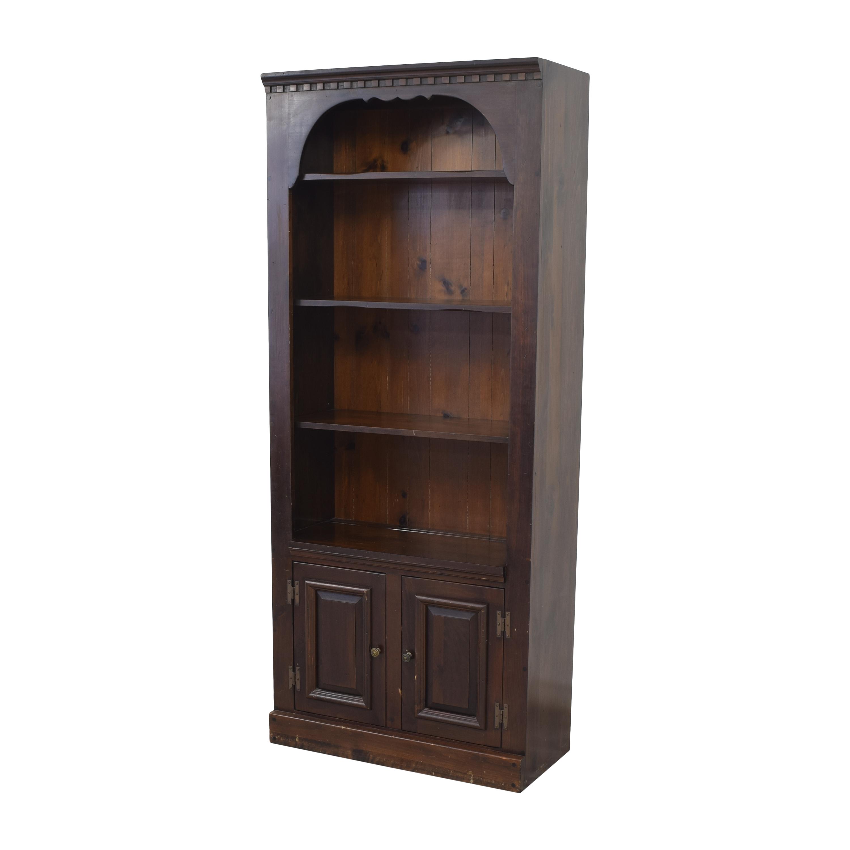 Bennington Pine Bennington Pine Bookcase with Cabinet on sale