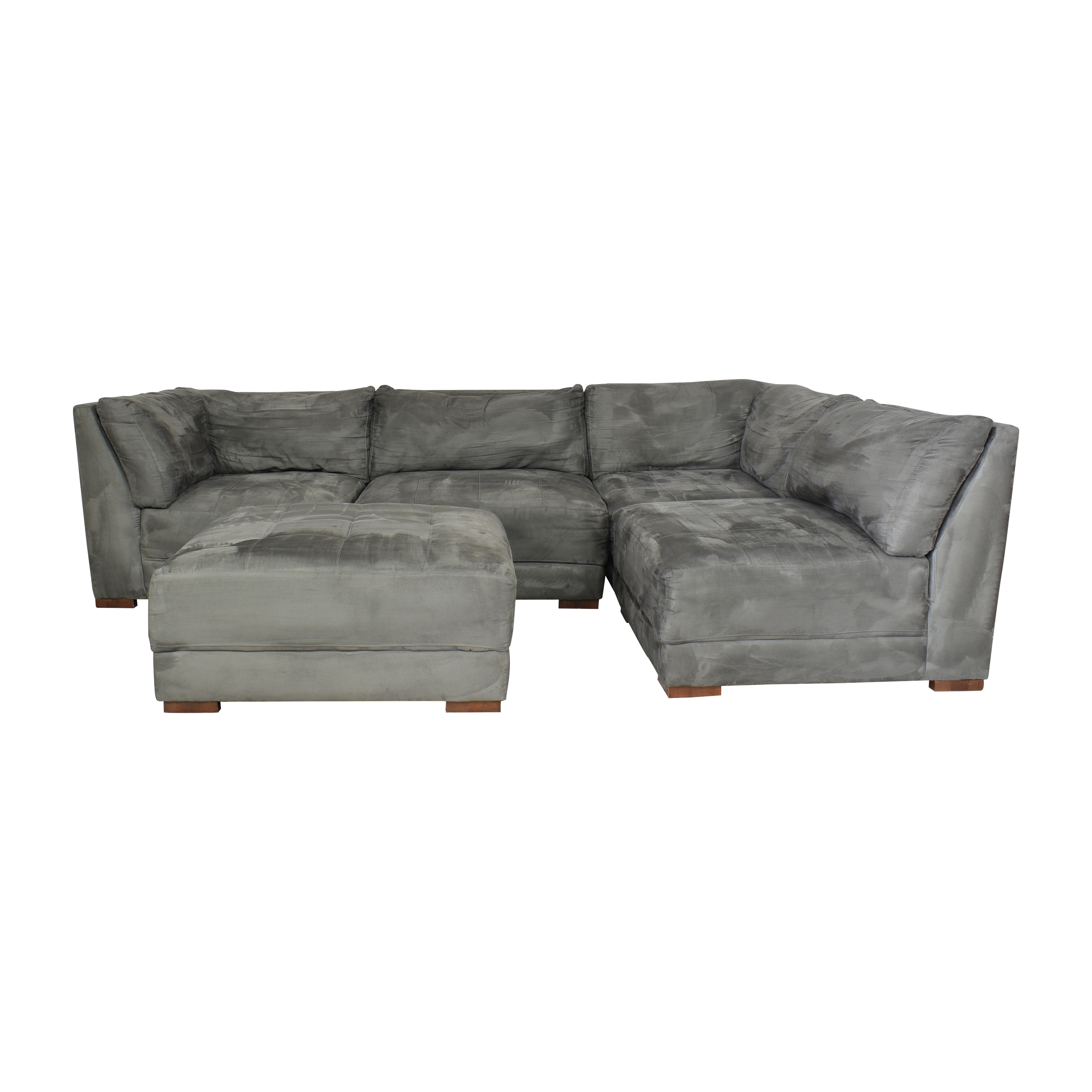American Signature American Signature Sectional with Ottoman dimensions