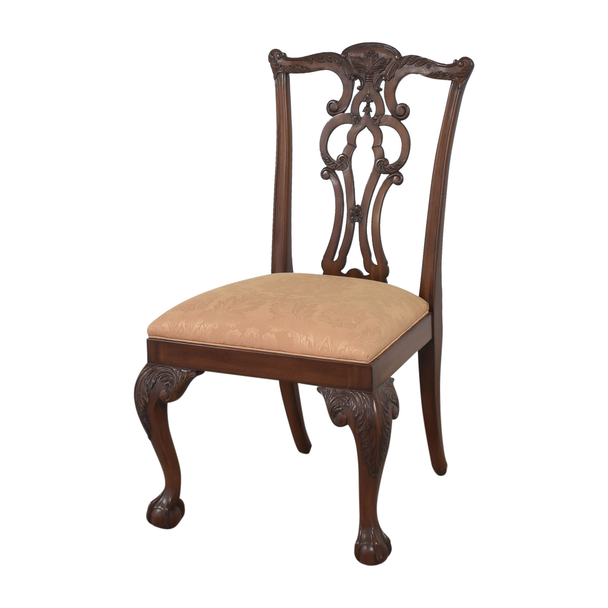 Ethan Allen Ethan Allen Chauncey Dining Side Chairs Brown and tan