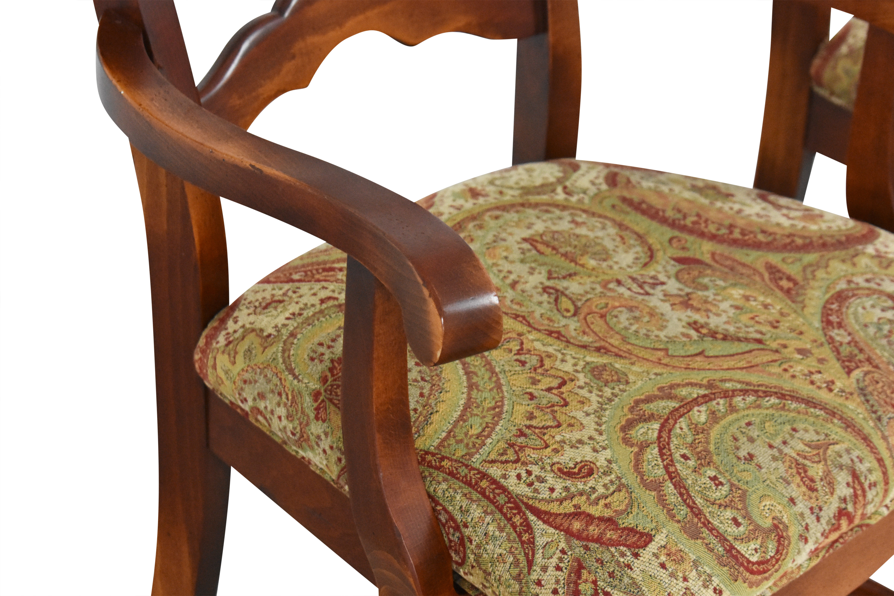 Saloom Model 35 Upholstered Dining Arm Chairs sale