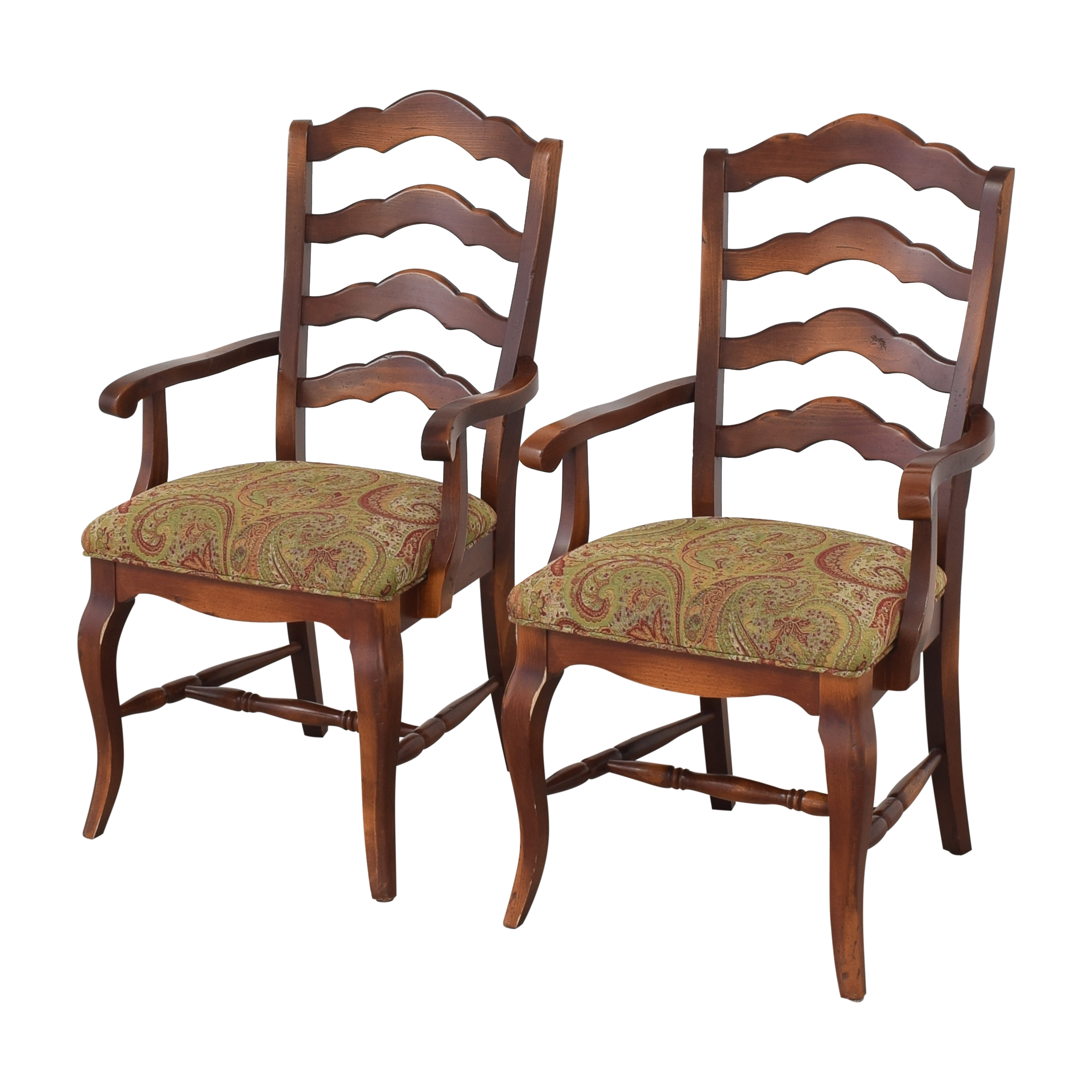 Saloom Saloom Model 35 Upholstered Dining Arm Chairs second hand