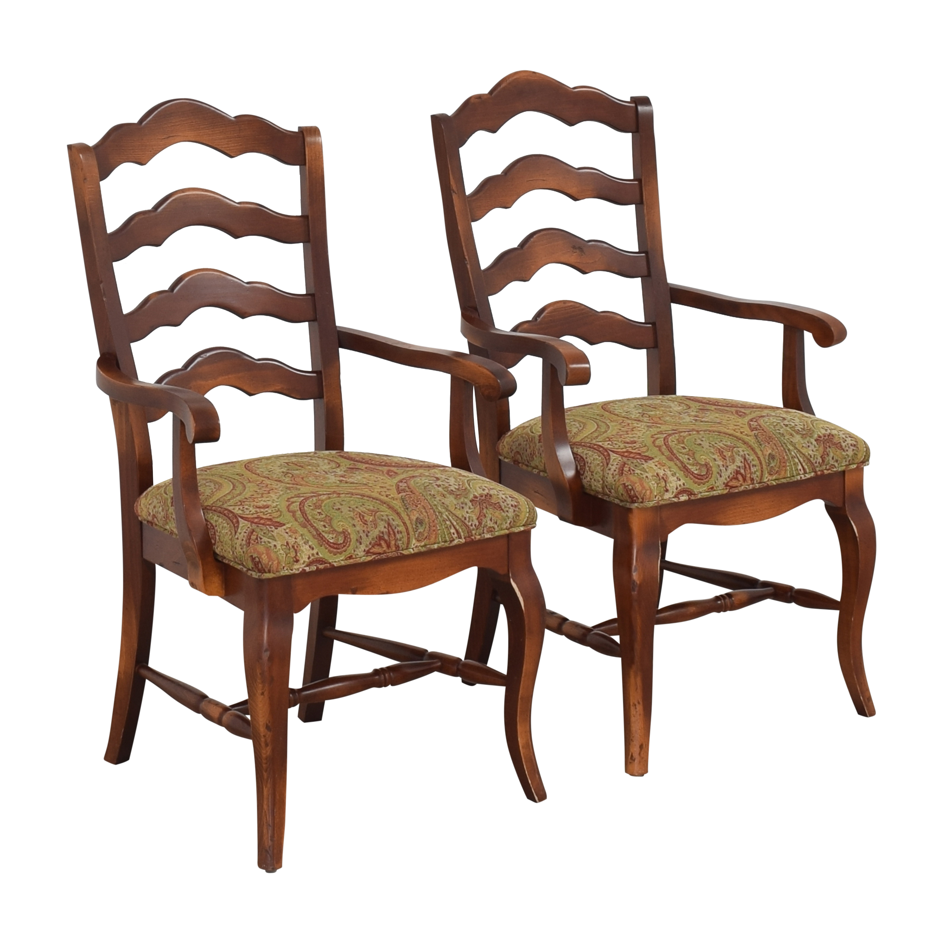 Saloom Saloom Model 35 Upholstered Dining Arm Chairs used
