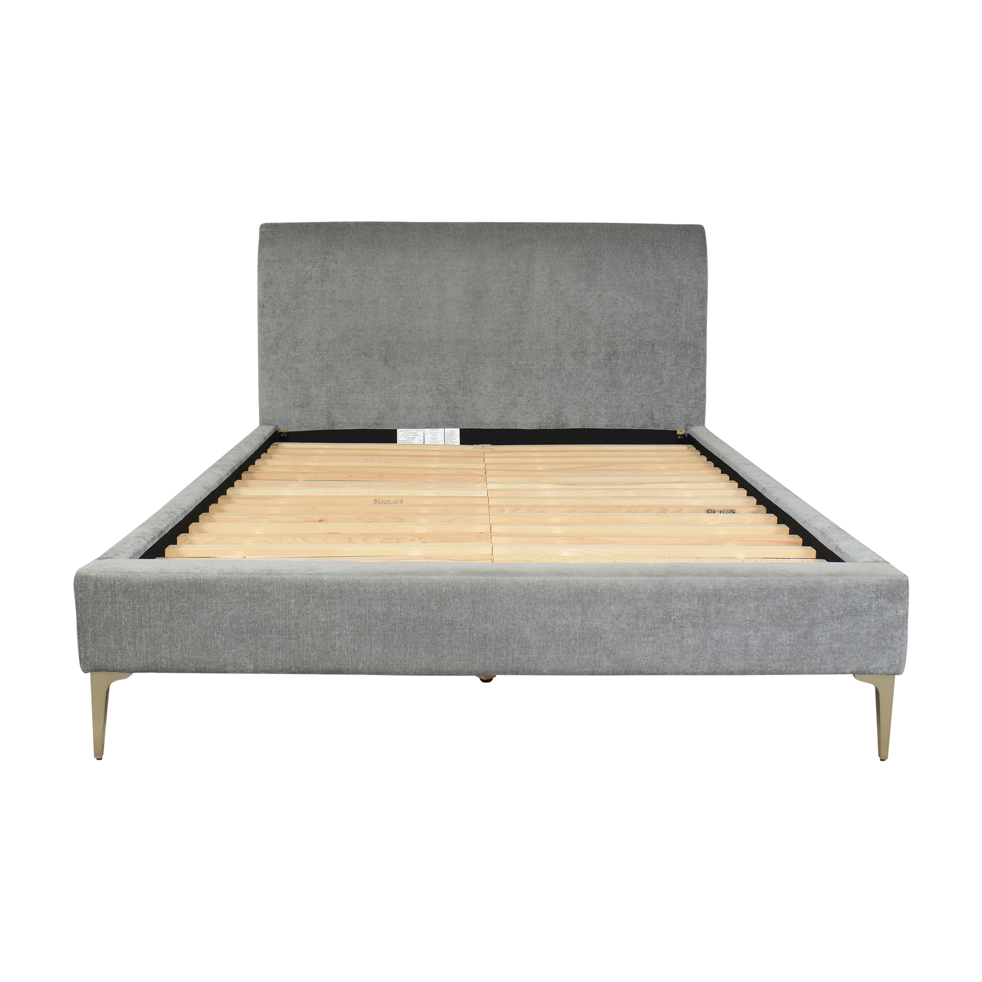 West Elm Andes Deco Upholstered Queen Bed / Beds