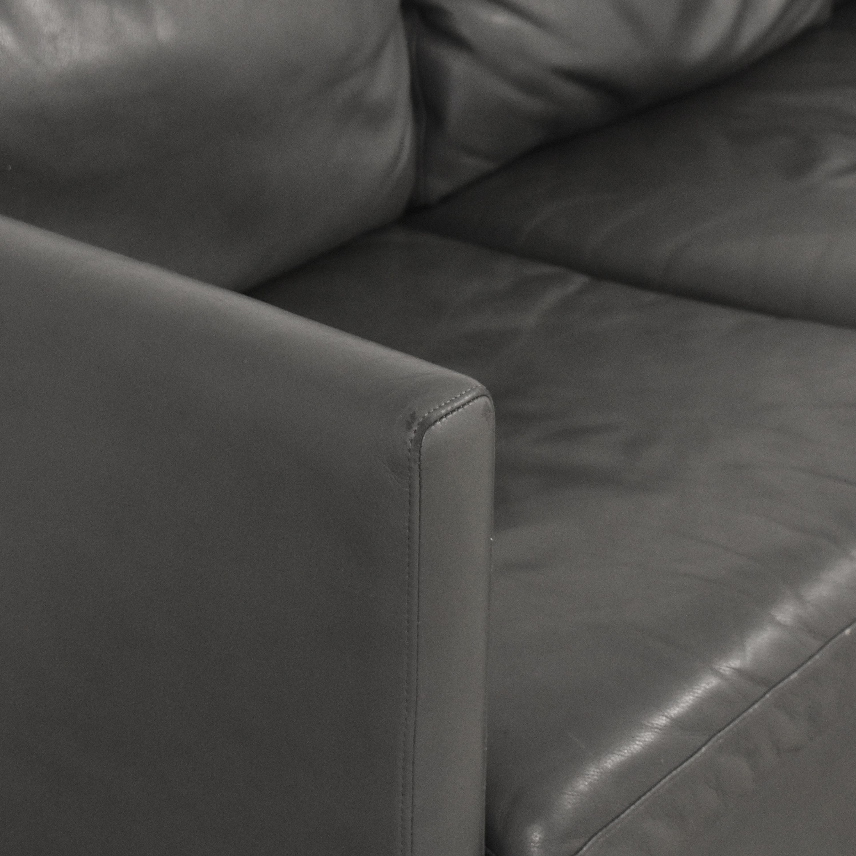 American Leather American Leather Three Cushion Sofa gray