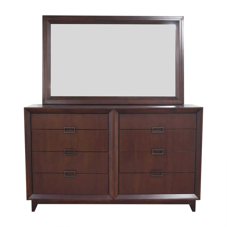 Raymour & Flanigan Raymour & Flanigan Vista Dresser with Mirror Storage