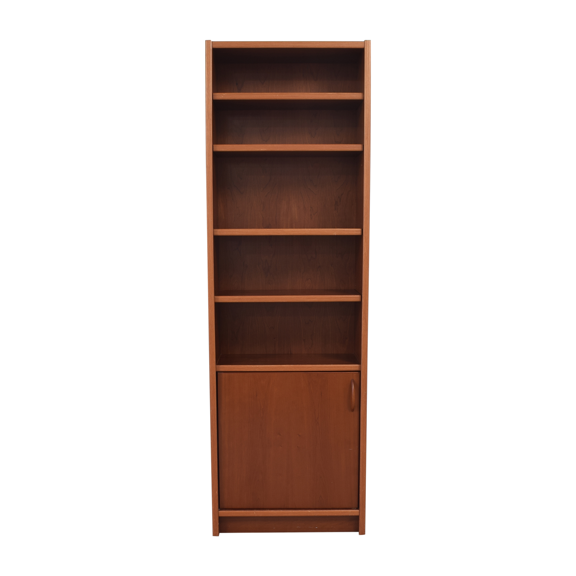 Danish Narrow Bookcase with Cabinet used