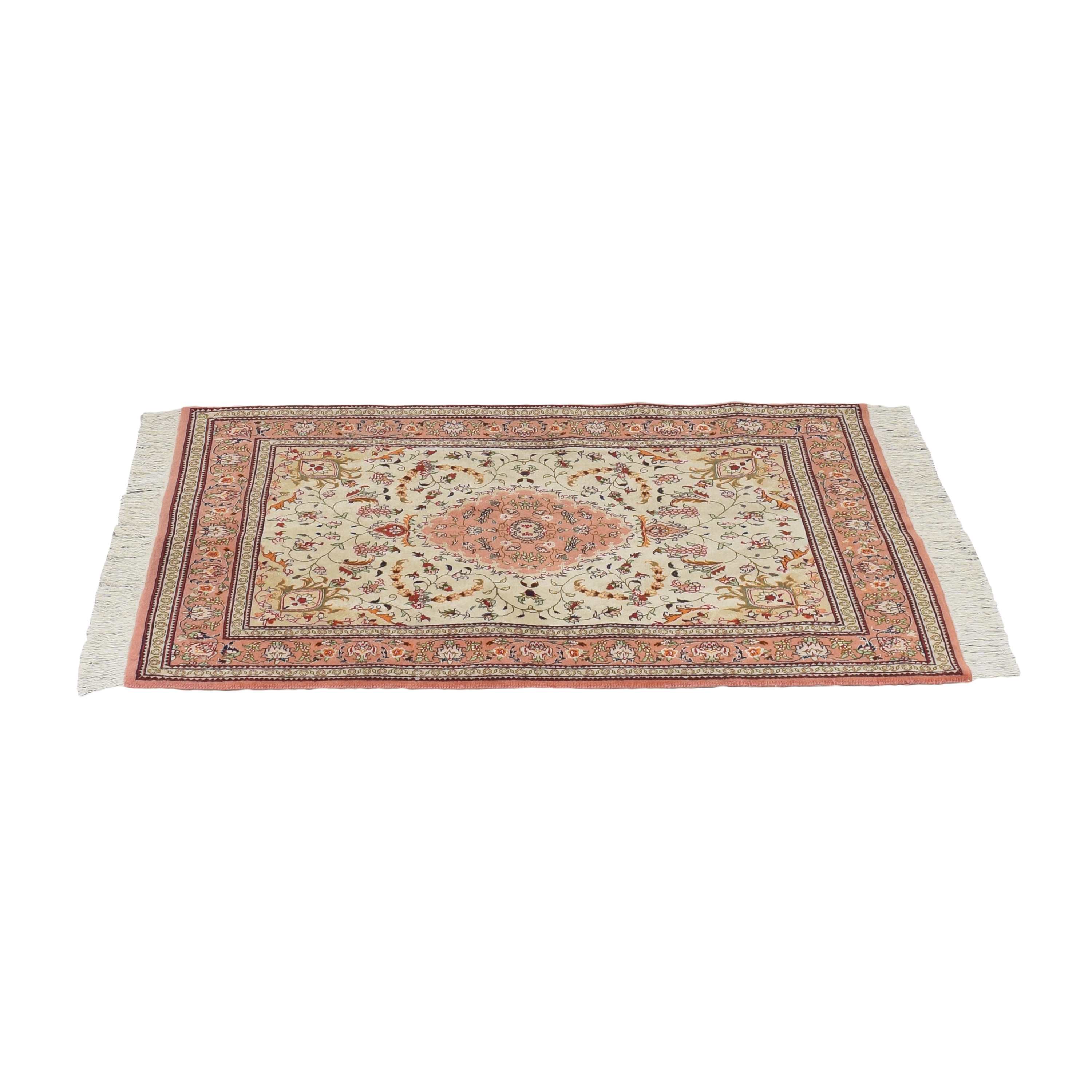 Patterned Area Rug with Tassels pa