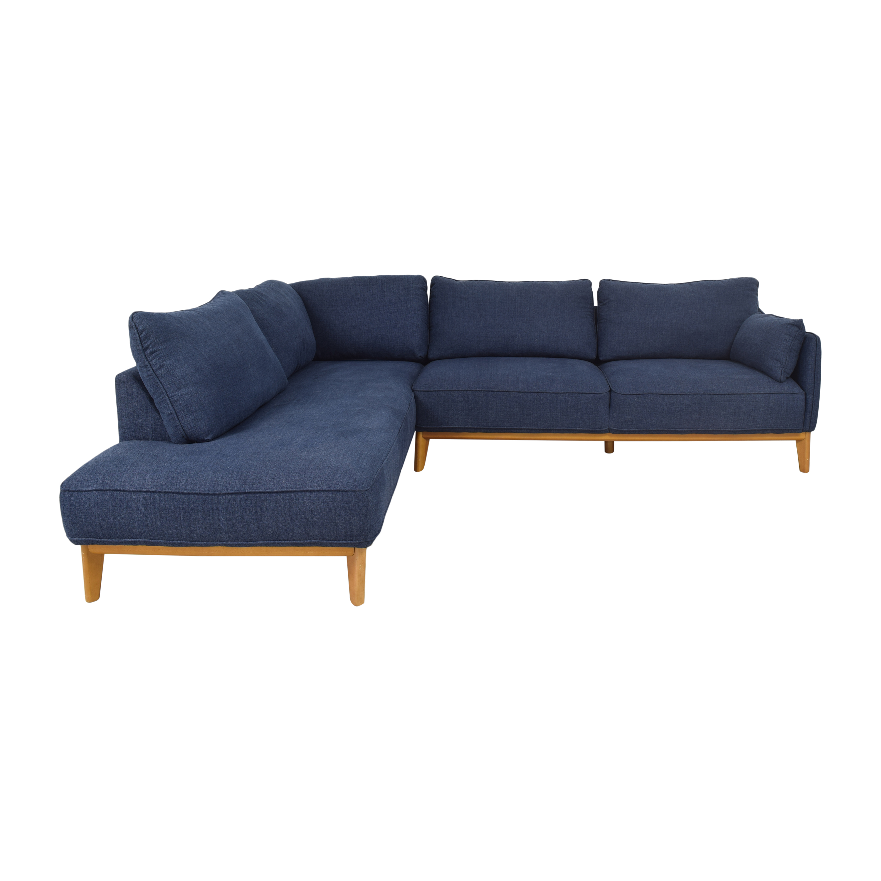 shop Macy's Jollene Sectional With Storage Cocktail Ottoman Macy's Sectionals
