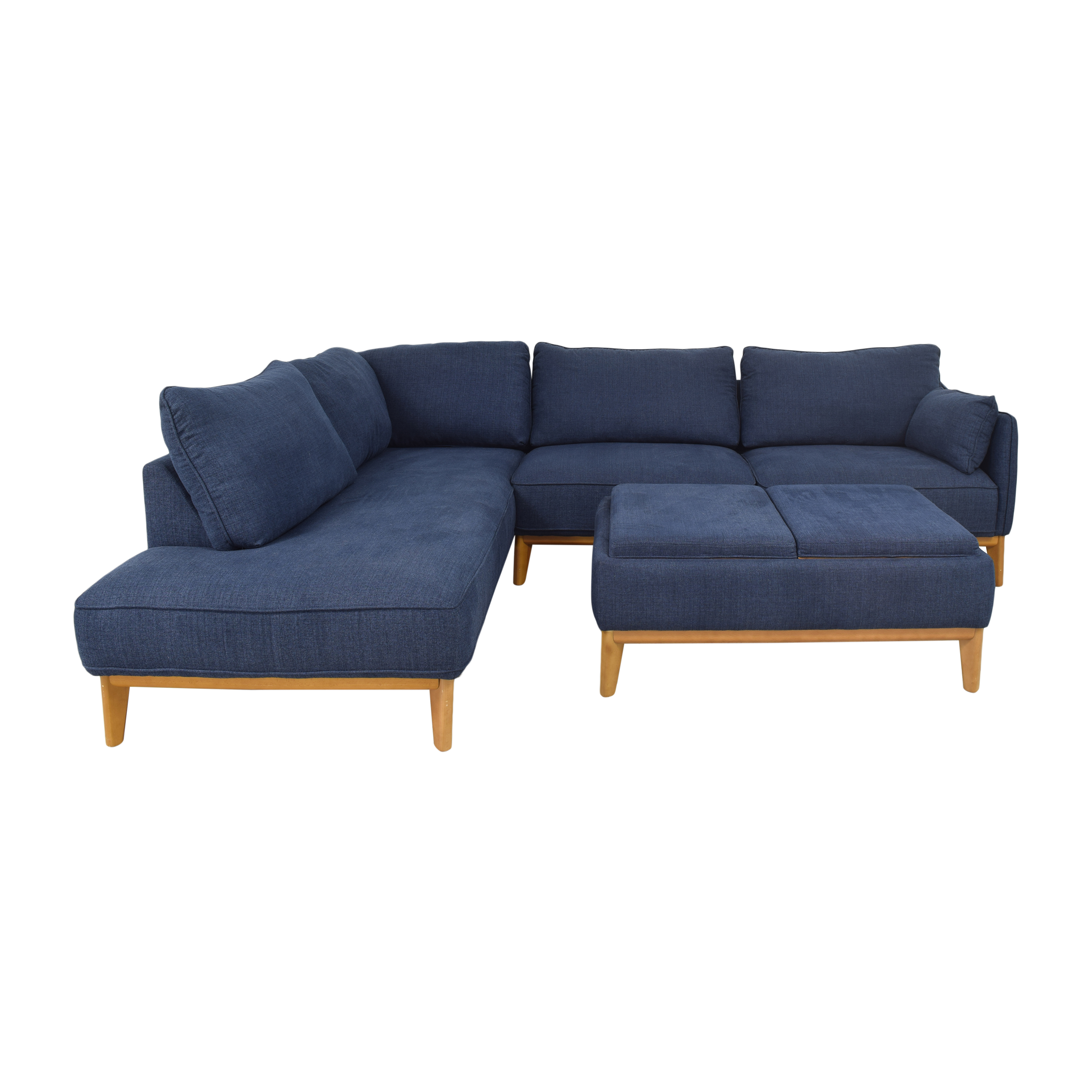 Macy's Jollene Sectional Sofa with Storage Cocktail Ottoman / Sectionals