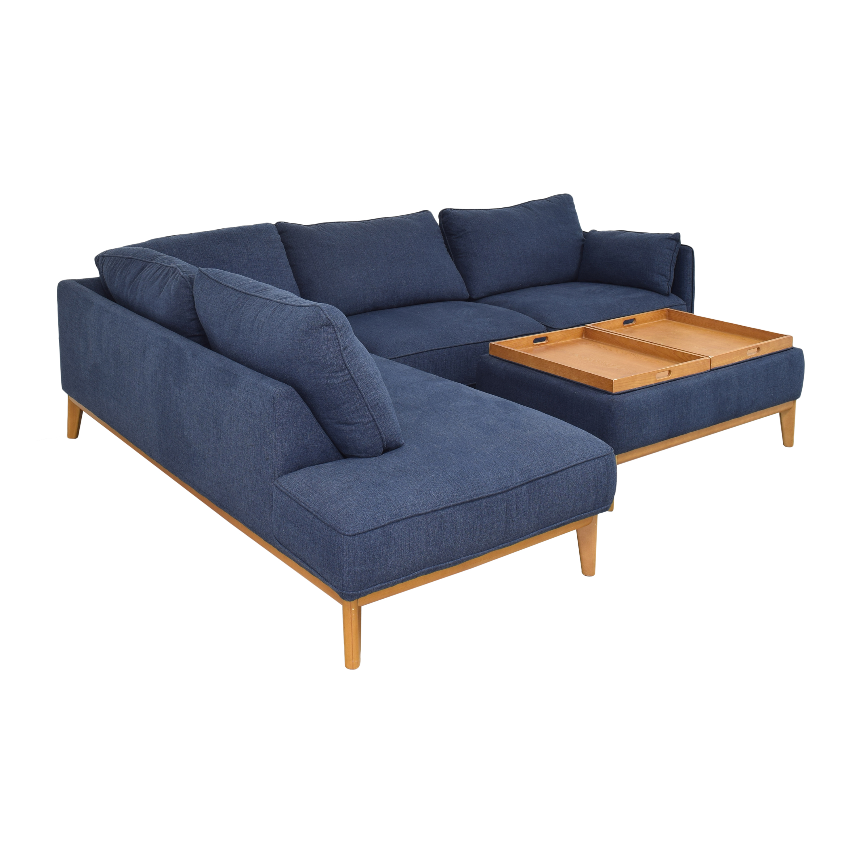 Macy's Macy's Jollene Sectional With Storage Cocktail Ottoman used
