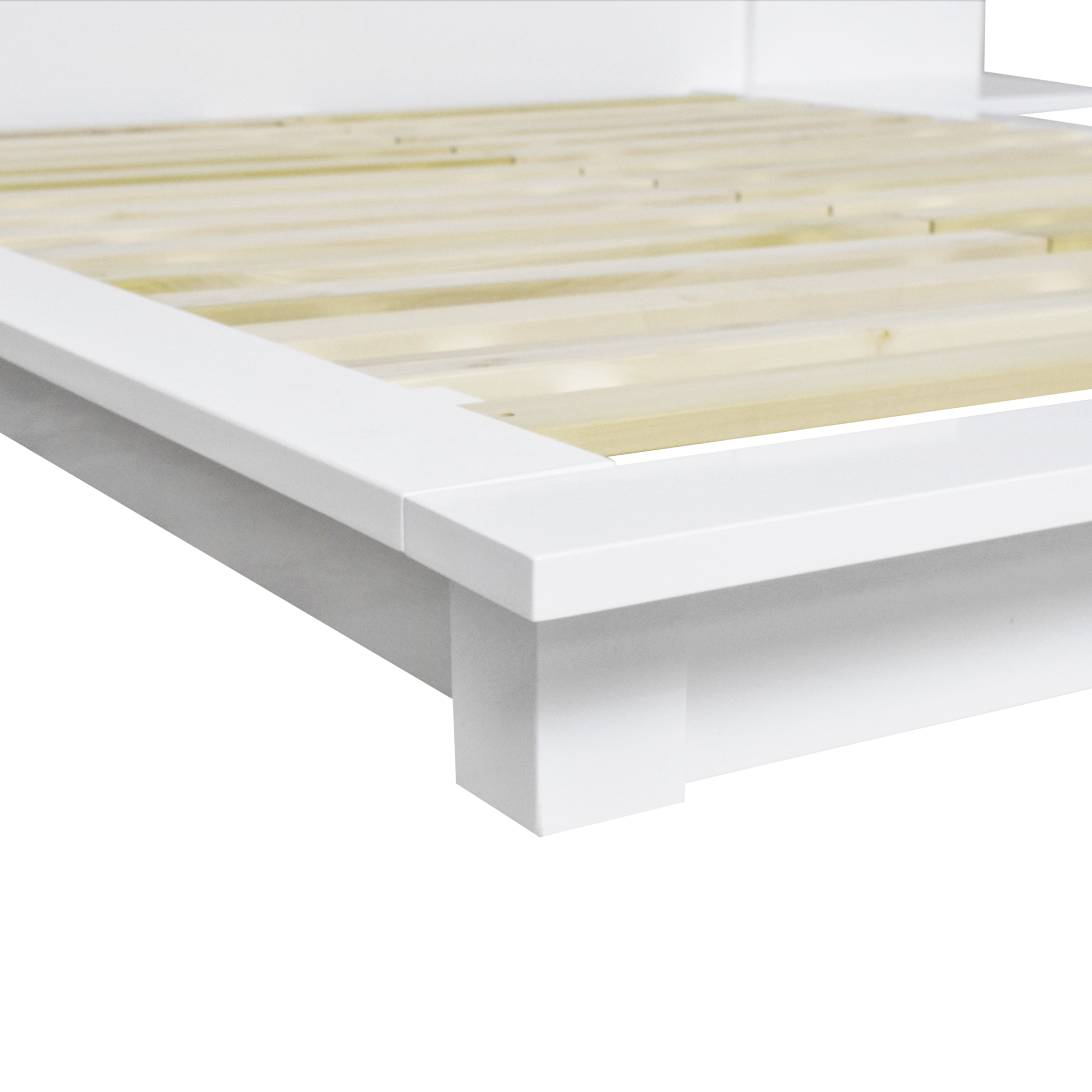 CB2 Andes Queen Bed with Attached Nightstands CB2