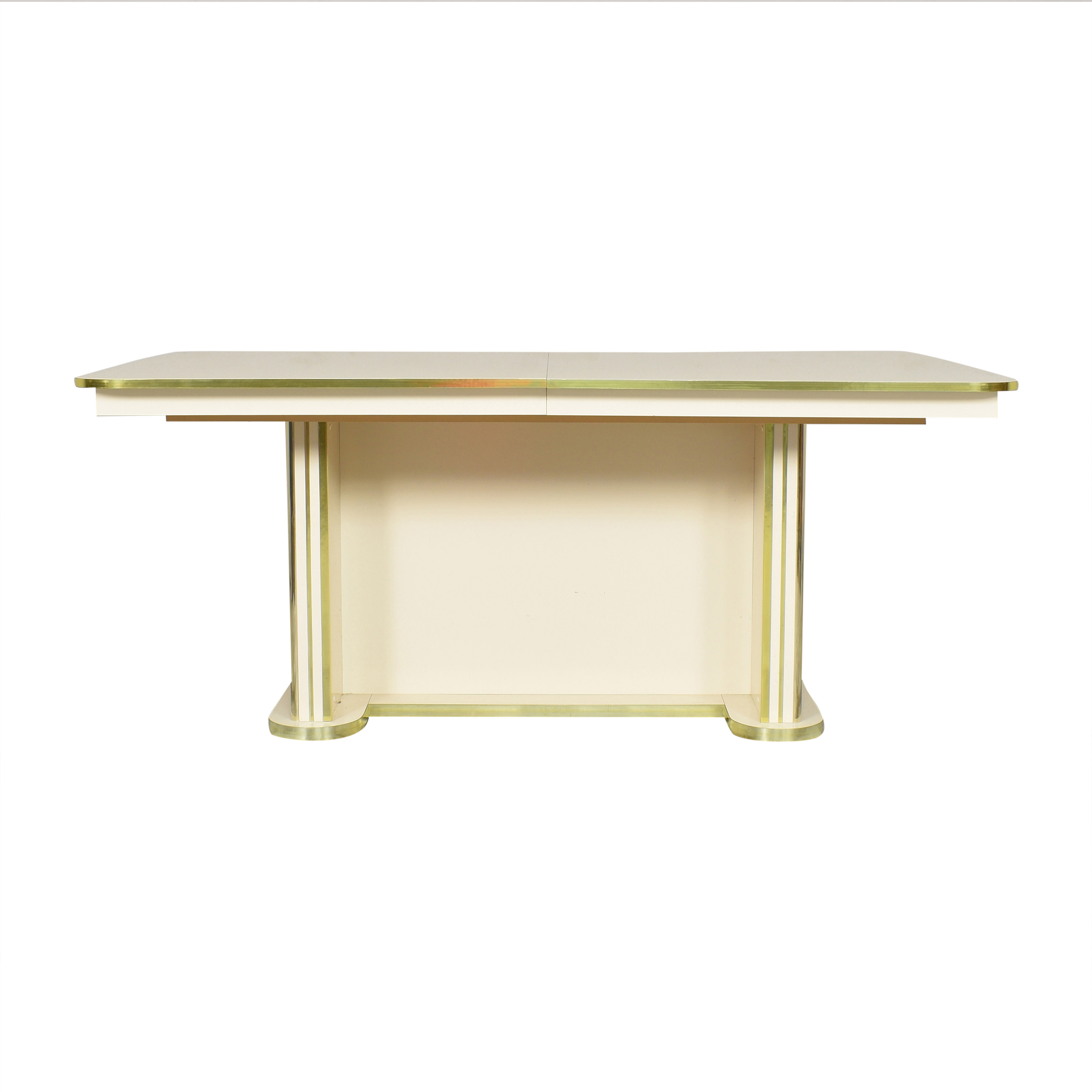 Art Deco-Style Extendable Dining Table Dinner Tables