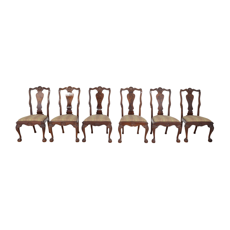 Bernhardt Bernhardt Centennial Collection Georgian Chippendale Dining Chairs for sale