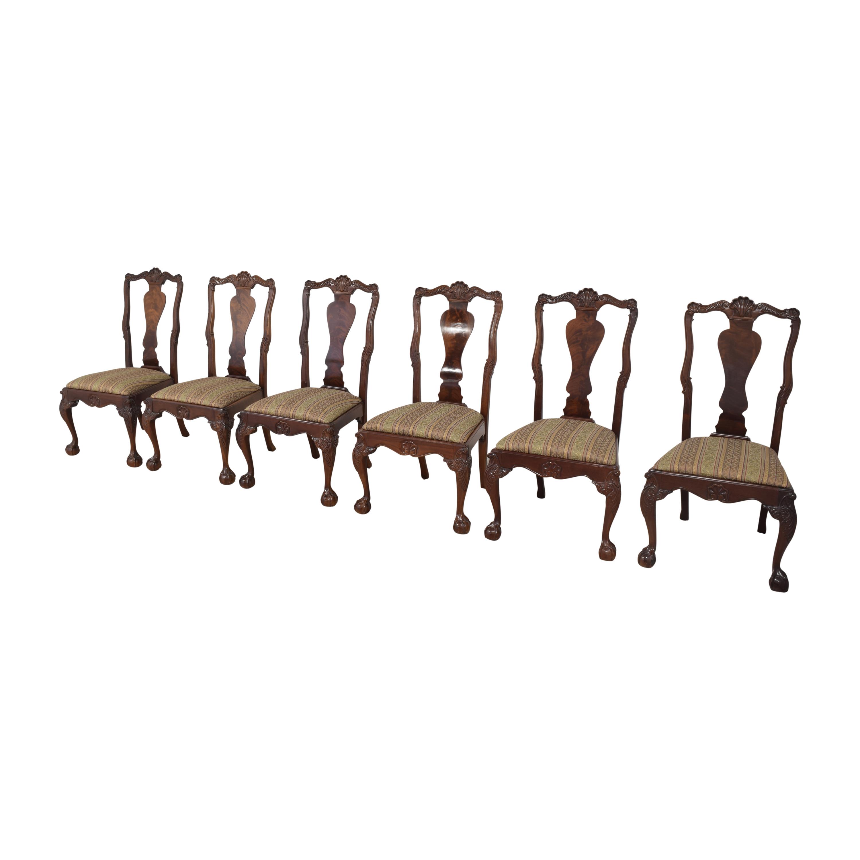 Bernhardt Bernhardt Centennial Collection Georgian Chippendale Dining Chairs nj