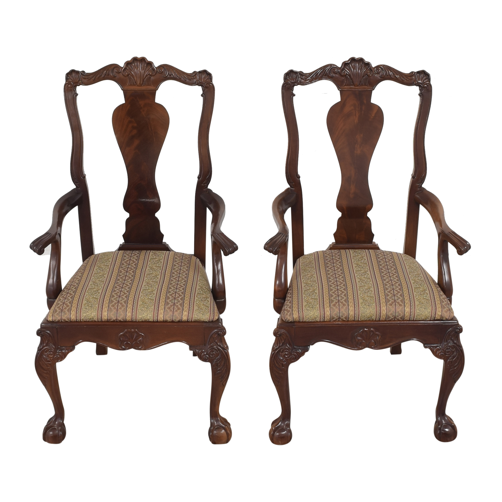shop Bernhardt Centennial Collection Chippendale Dining Arm Chairs Bernhardt Dining Chairs
